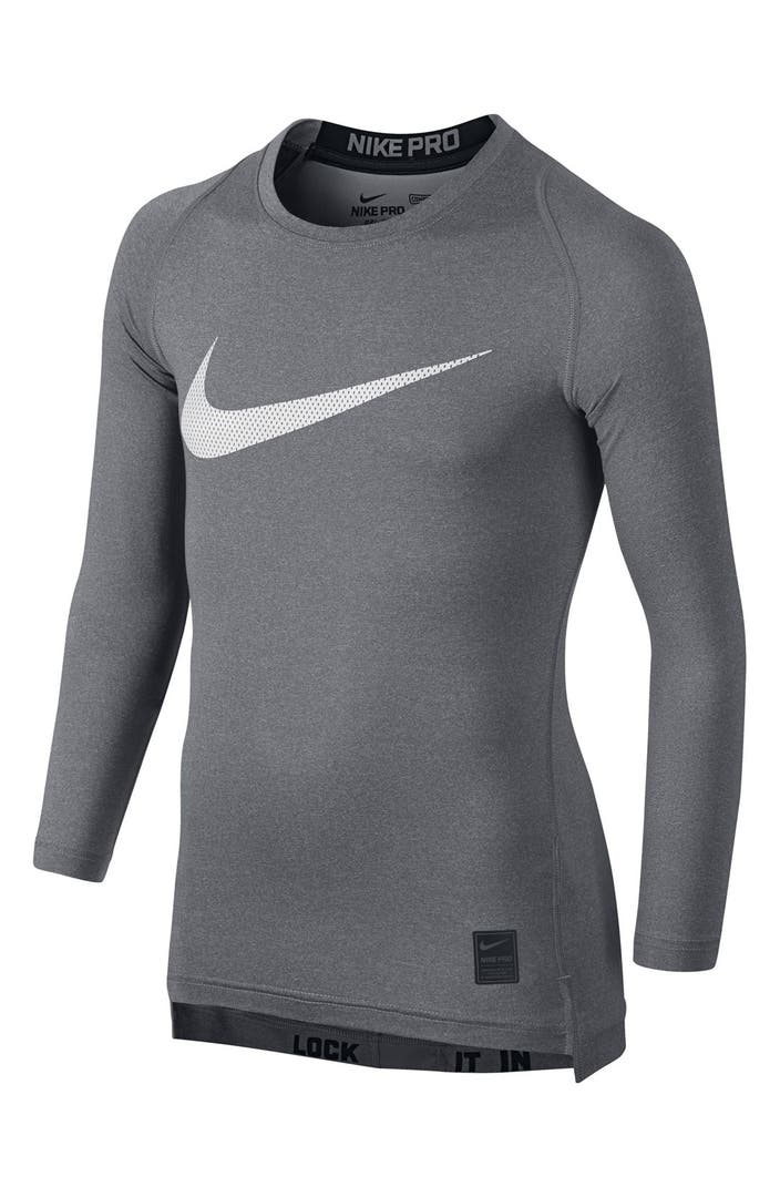 Nike 39 Pro Combat Hypercool Compression Hbr 39 Long Sleeve T