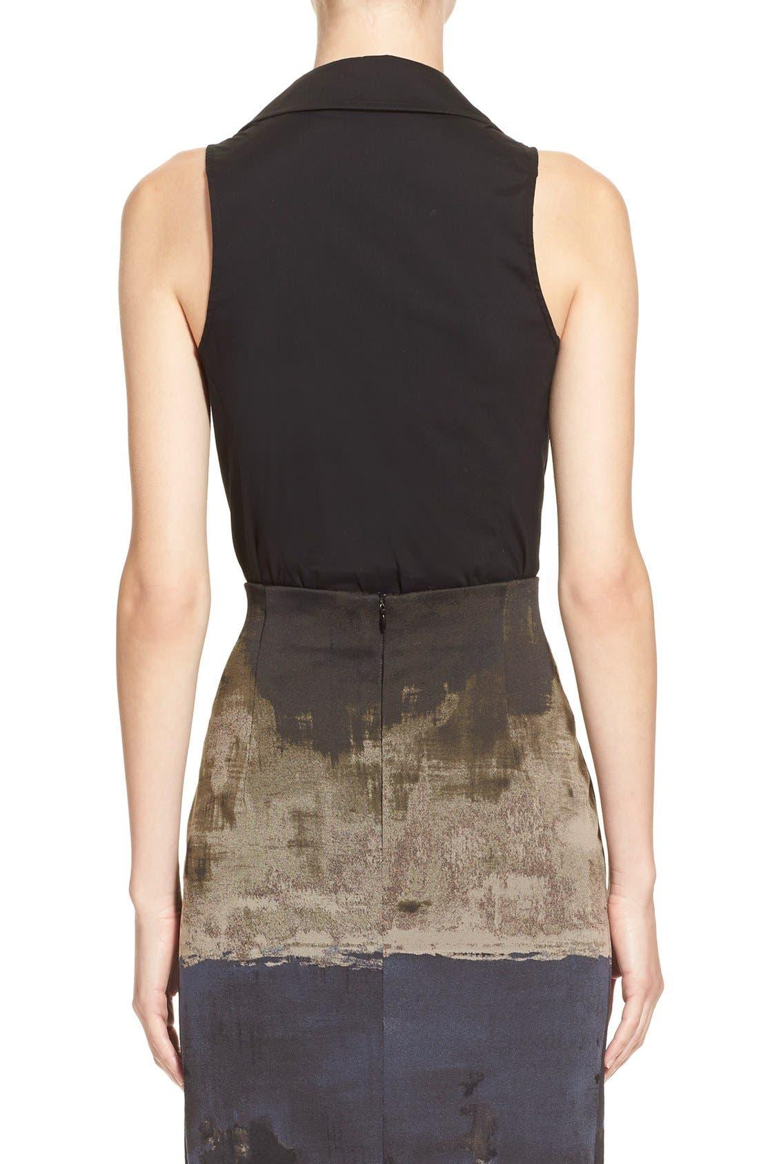 Alternate Image 2  - Donna KaranNew York SleevelessStretch Cotton Bodysuit