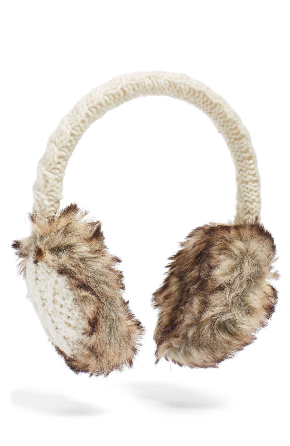 Main Image - Nirvanna Designs Cable Knit Earmuffs