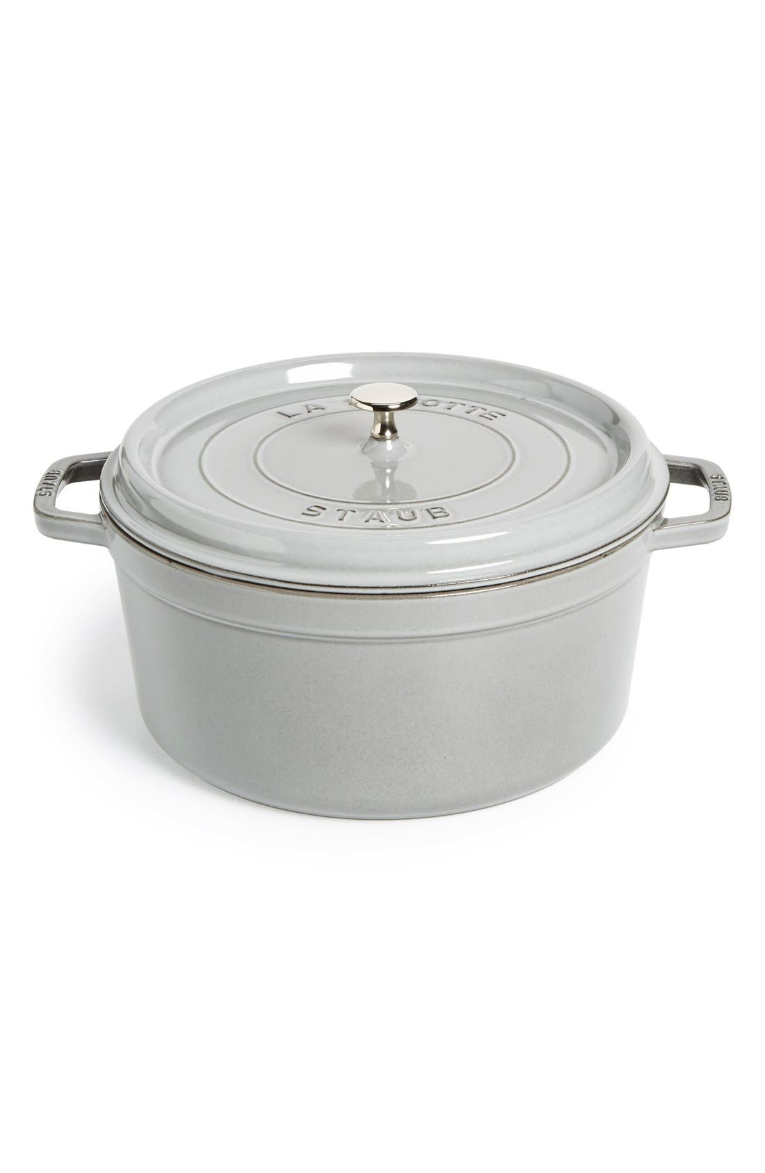 Alternate Image 1 Selected - Staub Large 9 Quart Round Enameled Cast Iron Cocotte