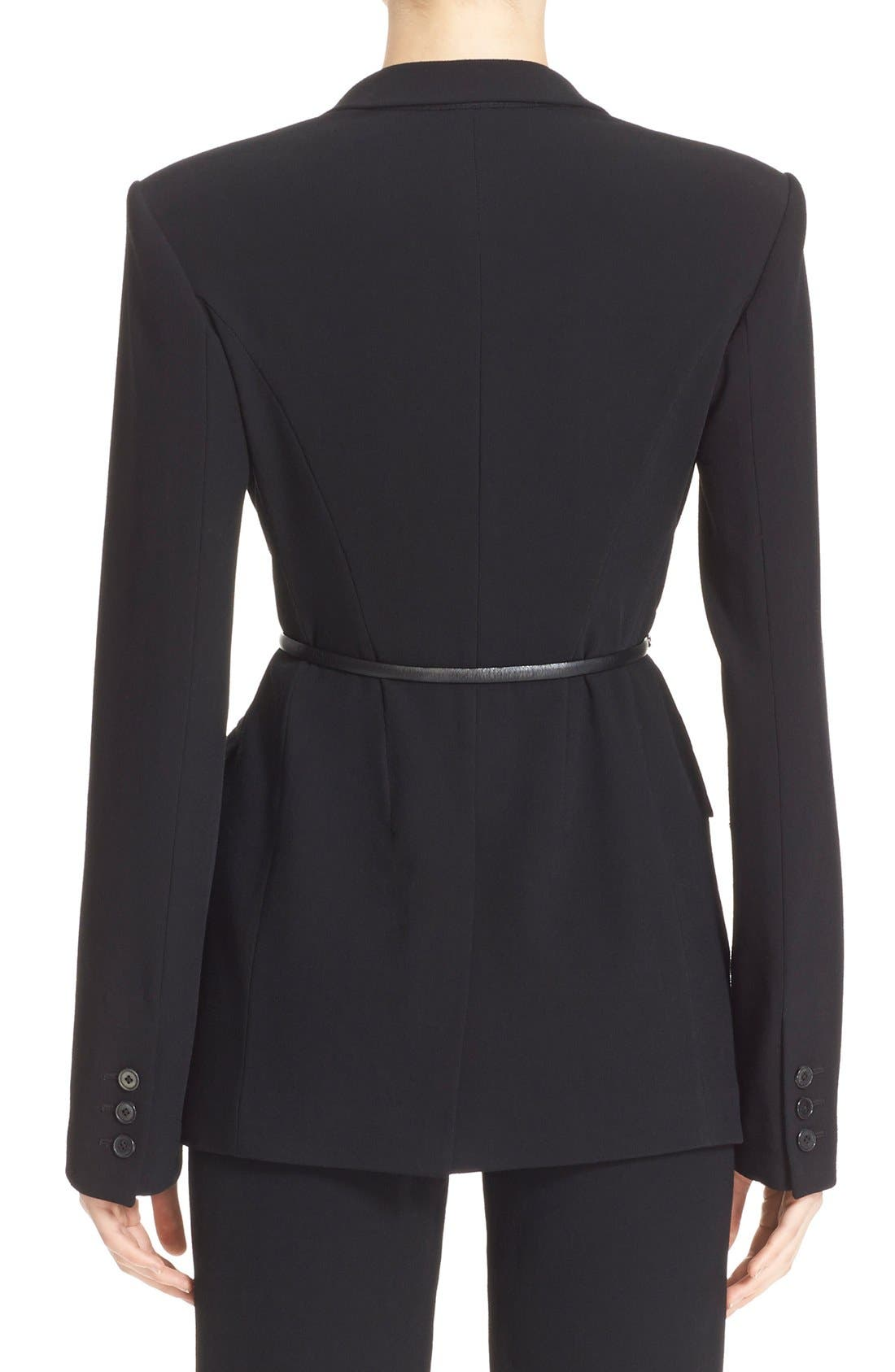 Alternate Image 2  - Donna Karan New York Element Hardware Belted Blazer