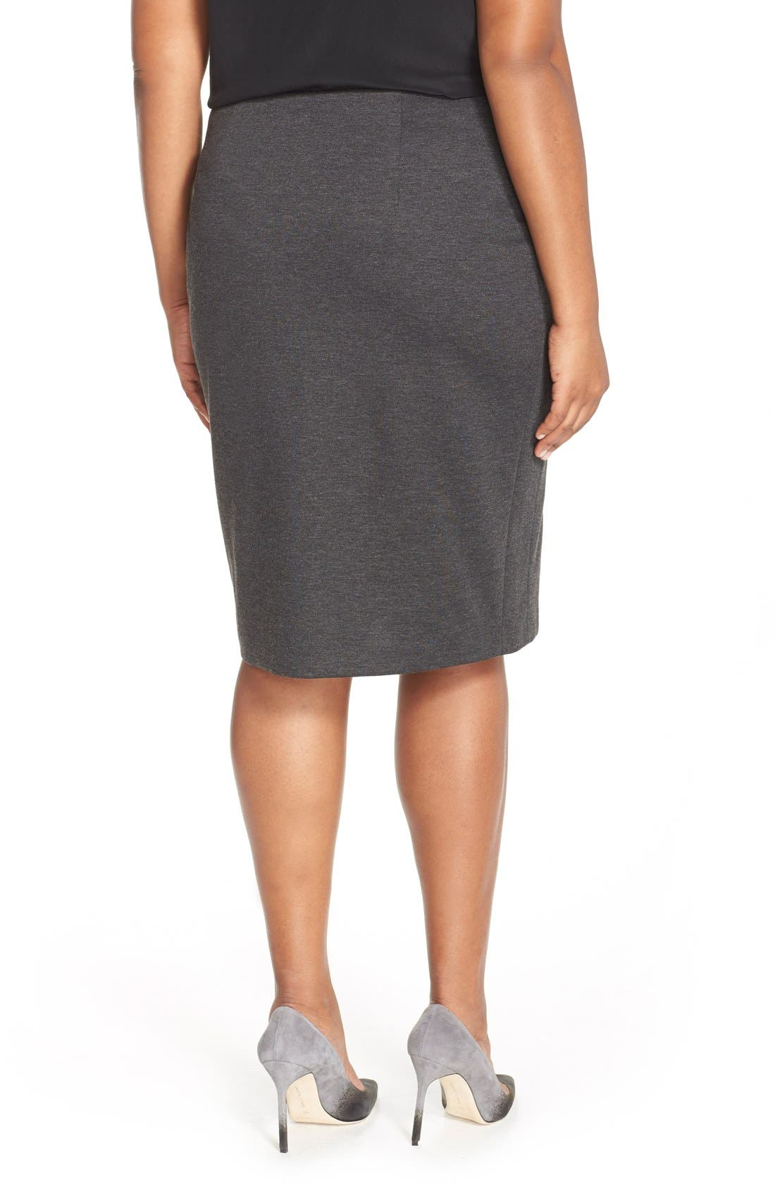 Alternate Image 2  - Vince Camuto Ponte Knit Skirt (Plus Size)