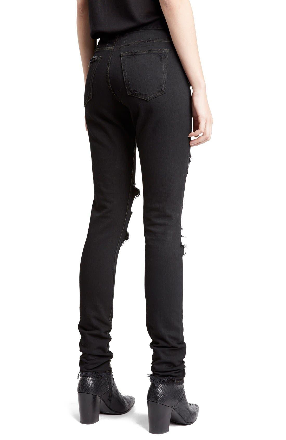 Alternate Image 2  - Saint Laurent Destroyed Skinny Jeans