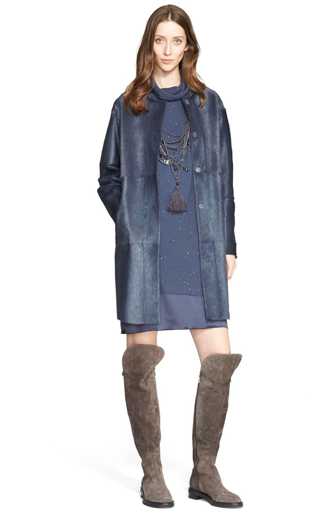 Alternate Image 4  - Fabiana Filippi Embellished Knit Overlay Satin Dress