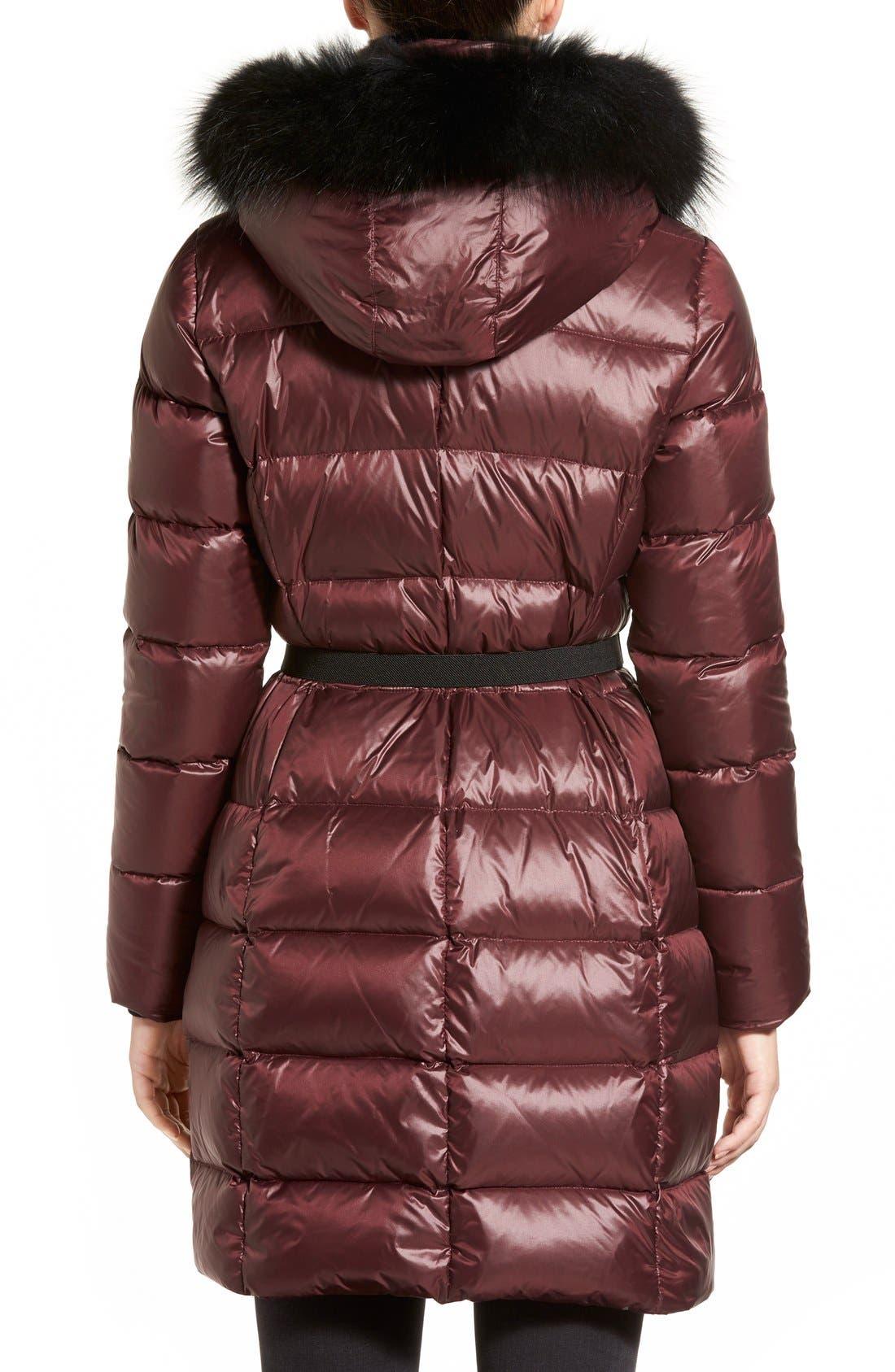 Alternate Image 2  - Andrew Marc 'Tatiana' Belted Down Coat with Genuine Fox & Rabbit Fur Trim
