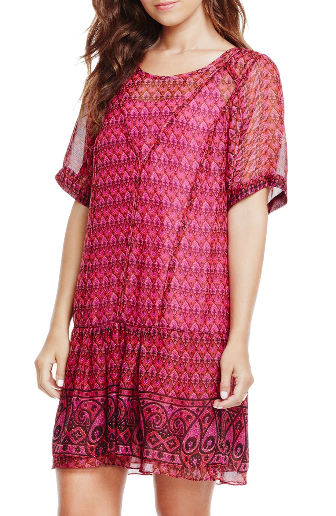 Main Image - Two by Vince Camuto Print Drop Waist Dress