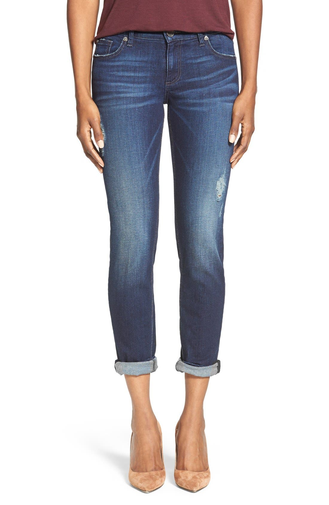 Alternate Image 1 Selected - KUT from the Kloth 'Catherine' Boyfriend Jeans (Luxury)