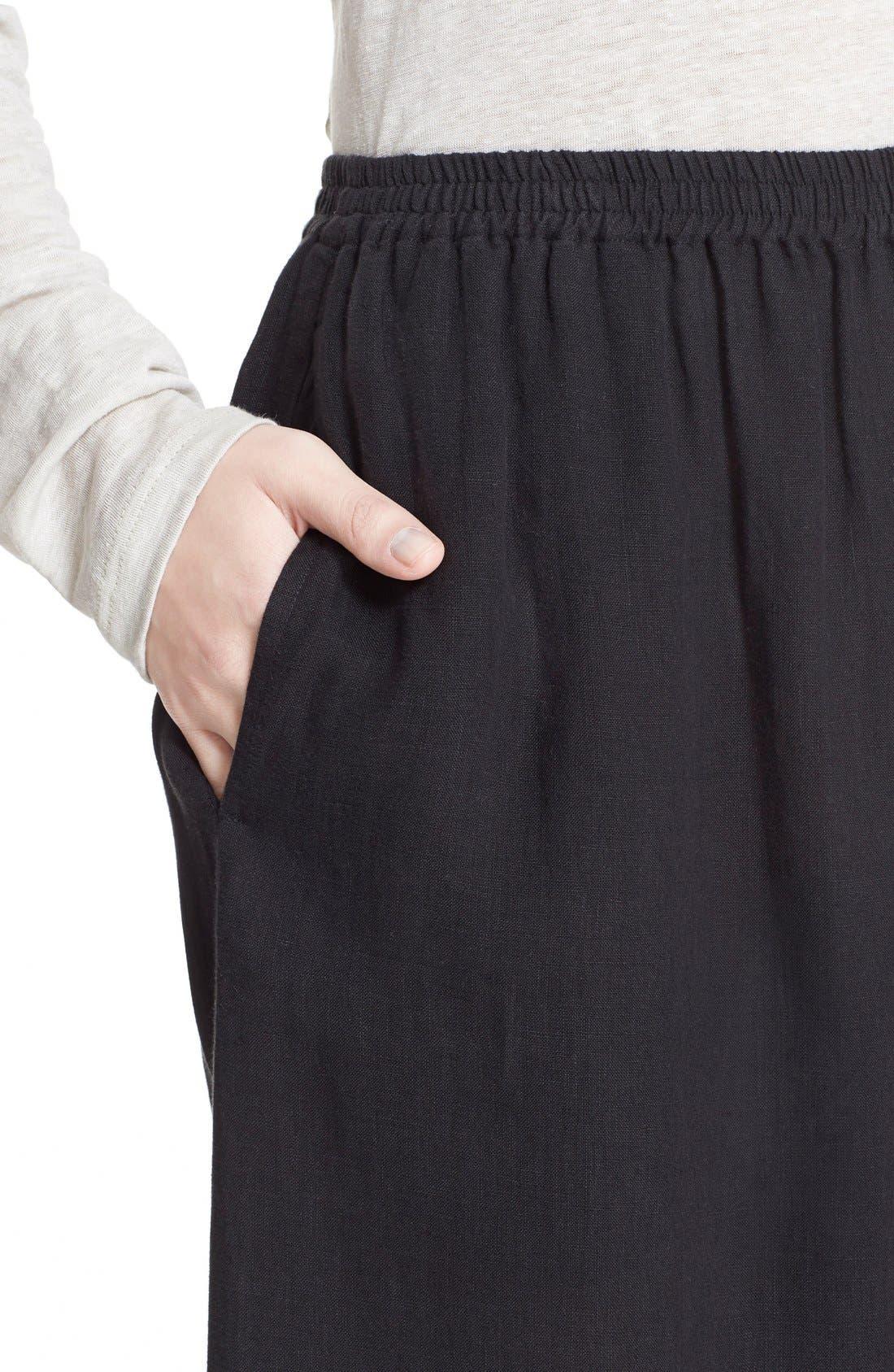 Alternate Image 6  - eskandarHandkerchief Linen Flare Crop Pants
