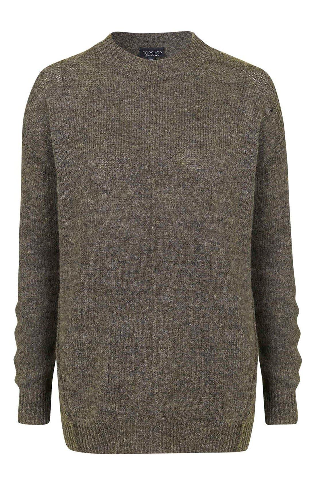 Alternate Image 3  - Topshop Longline Pullover Sweater