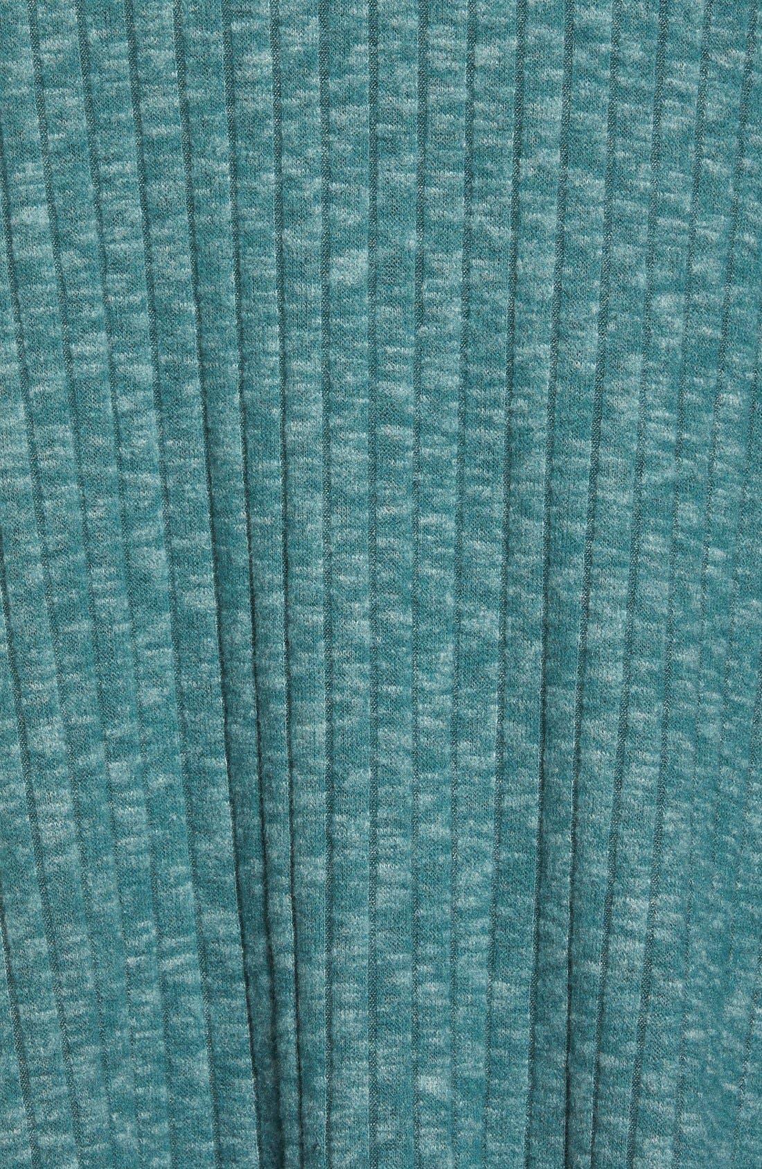 Alternate Image 5  - Bobeau One-Button Fuzzy Fleece Wrap Cardigan (Regular & Petite)