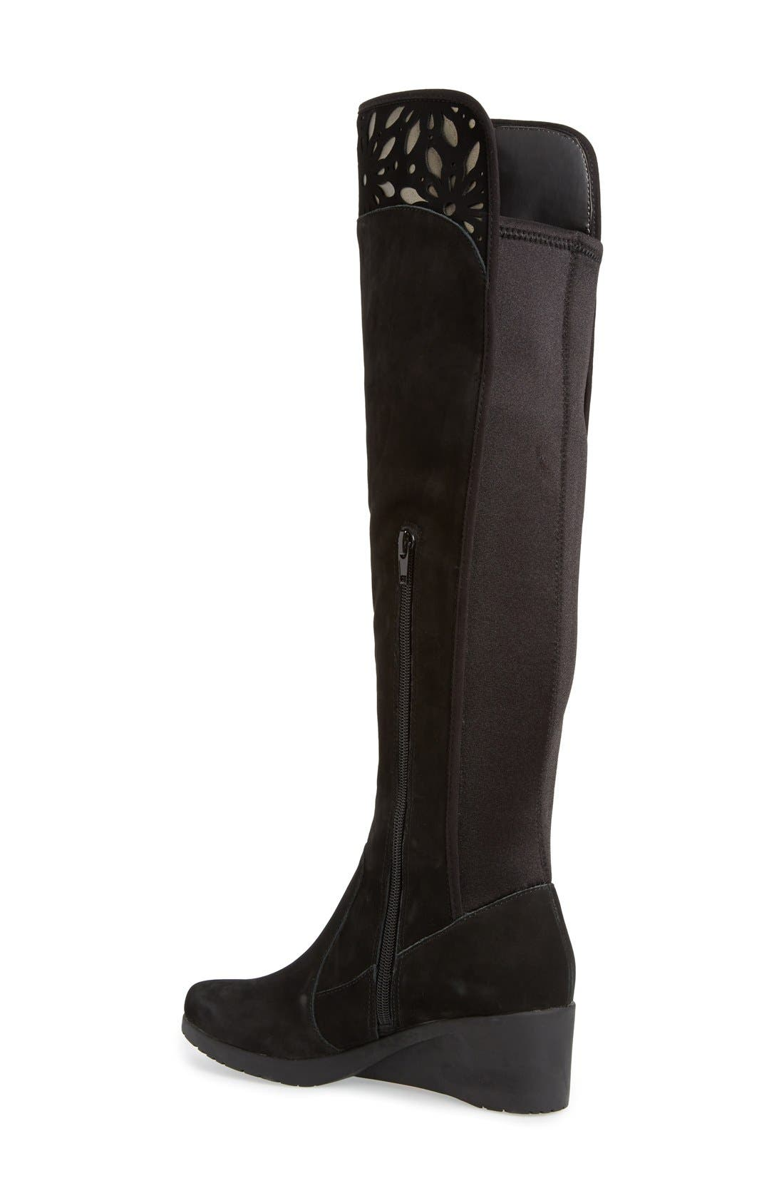 Alternate Image 2  - Jambu 'Natalia' Cutout Detail Water Resistant Over the Knee Boot (Women)