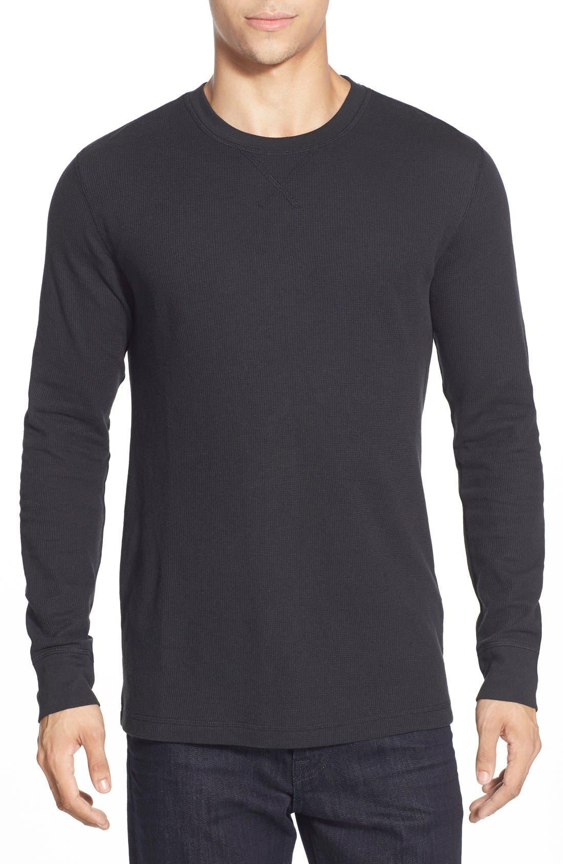 Alternate Image 1 Selected - Nordstrom Men's Shop Waffle Knit Long Sleeve T-Shirt