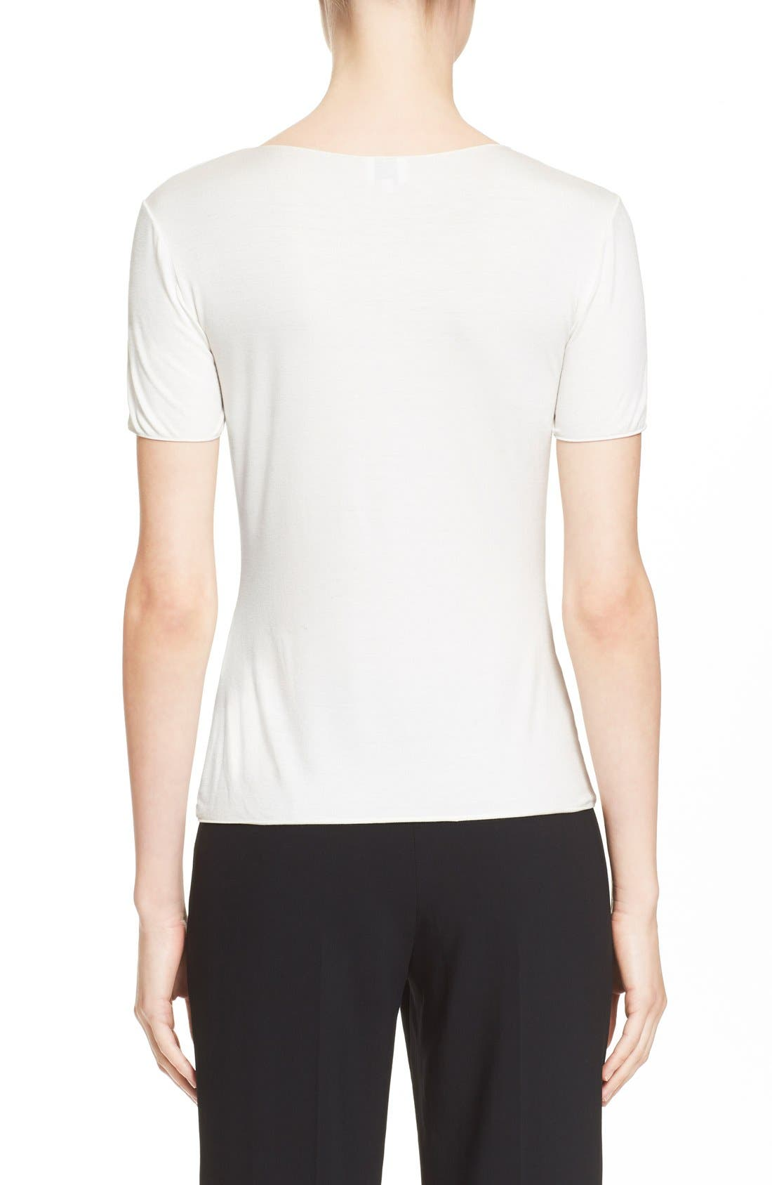 Alternate Image 2  - Armani Collezioni Short Sleeve Jersey Tee