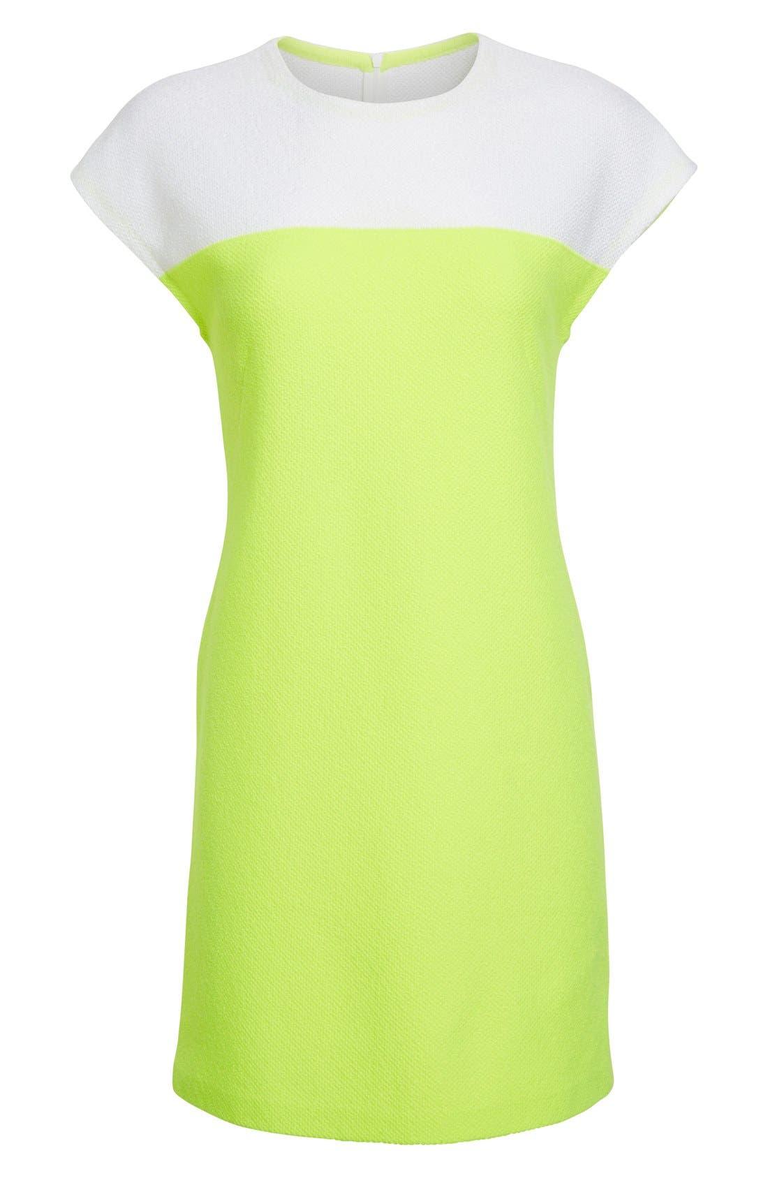 Alternate Image 4  - St. John Collection 'Nouveau' Colorblock Knit Shift Dress