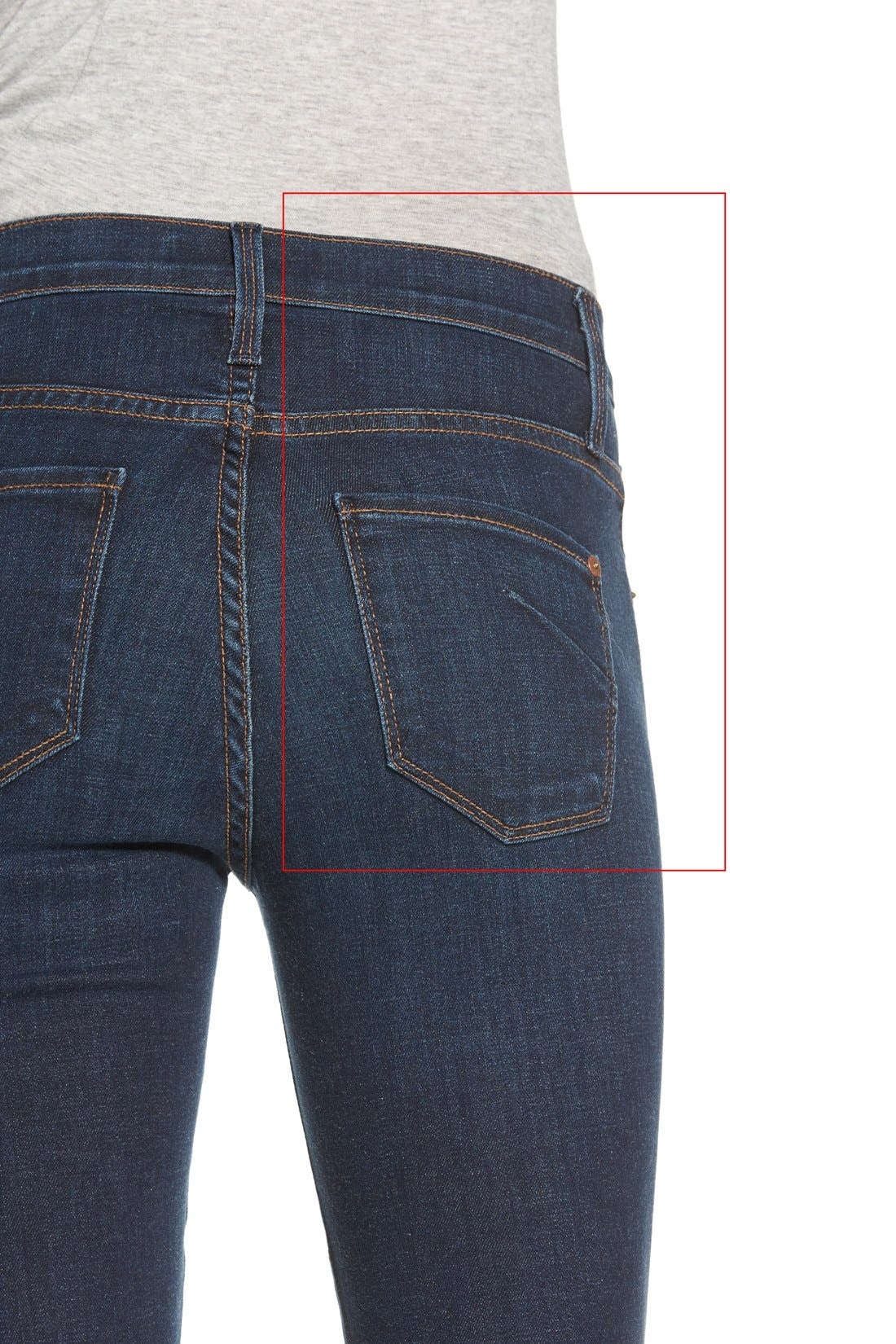 Alternate Image 4  - 7 For All Mankind® 'Tailorless Ginger' High Rise Flare Jeans (Royal Broken Twill) (Short)