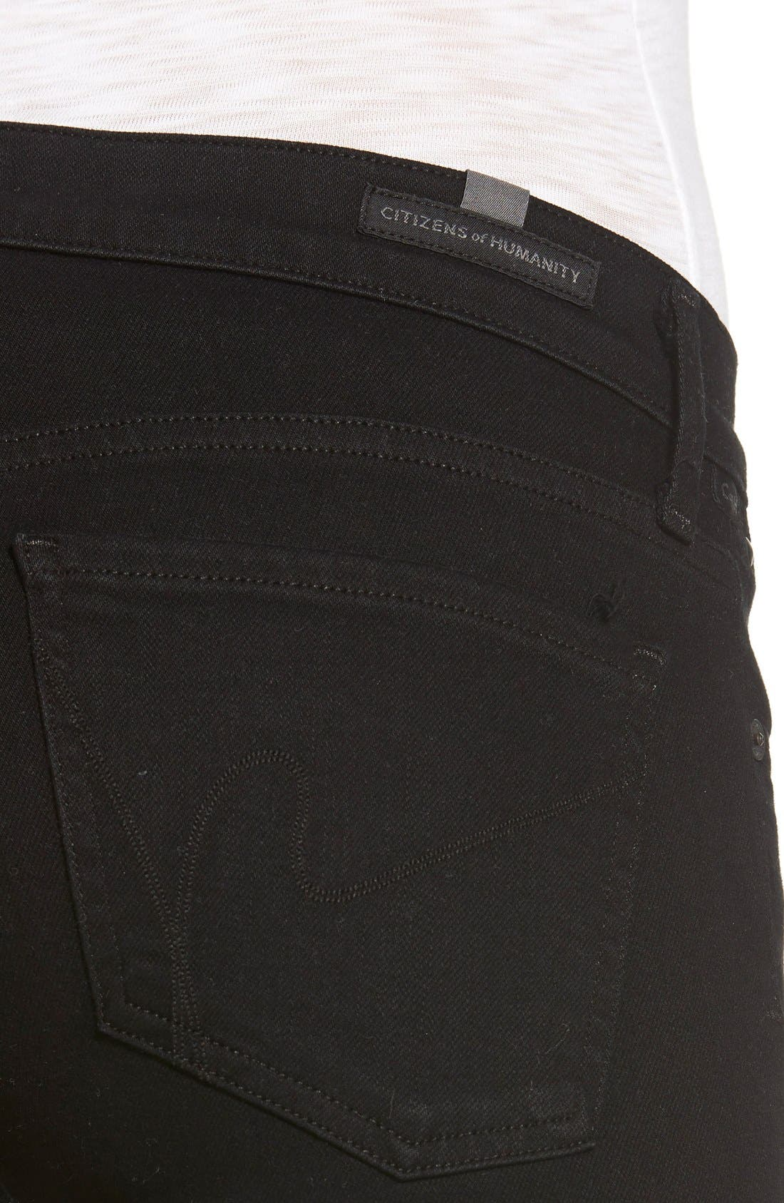 Alternate Image 4  - Citizens of Humanity 'Emmanuelle' Bootcut Jeans (Black)