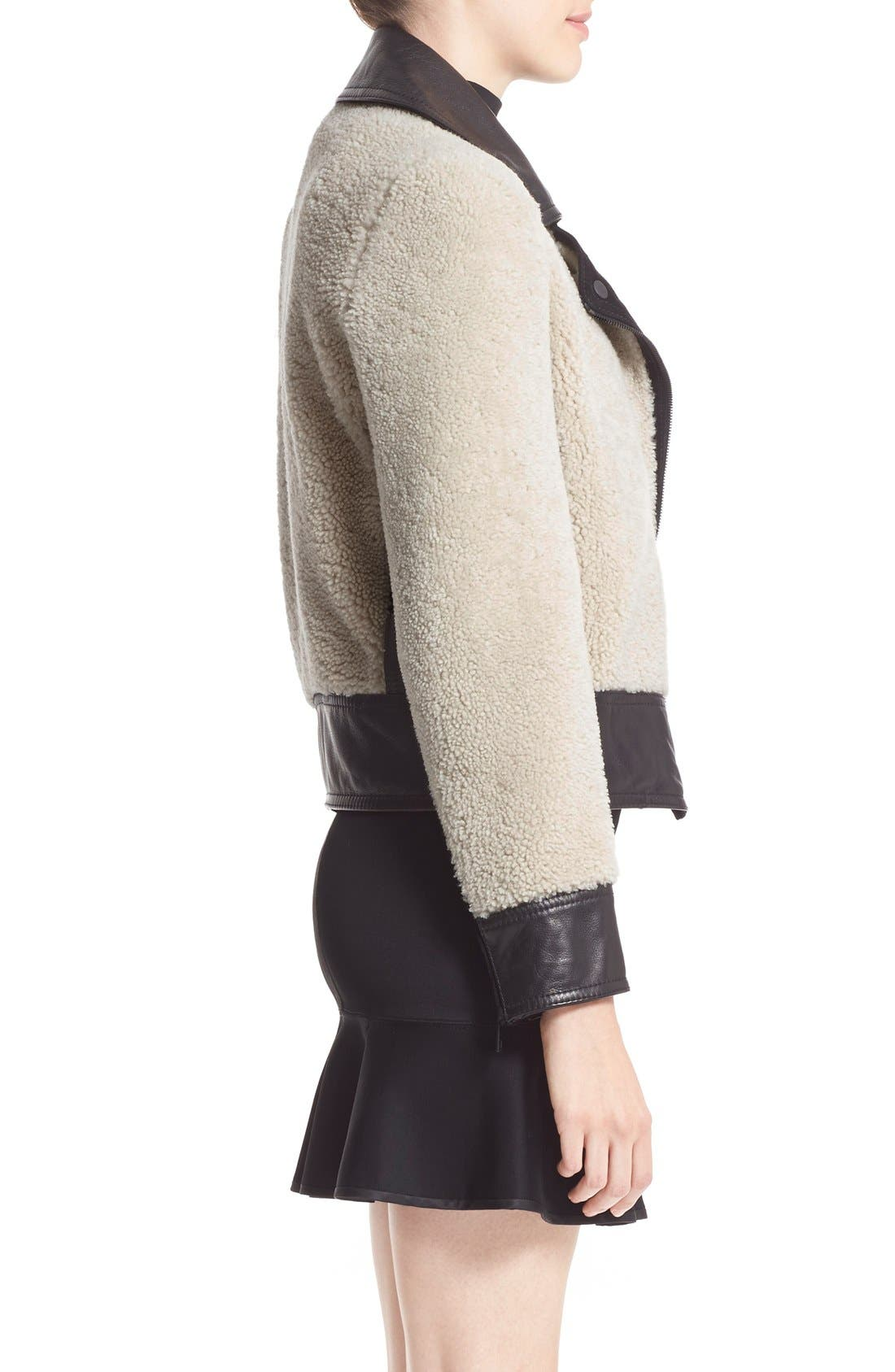 Alternate Image 3  - rag & bone 'Billie' Leather TrimGenuine Shearling Jacket