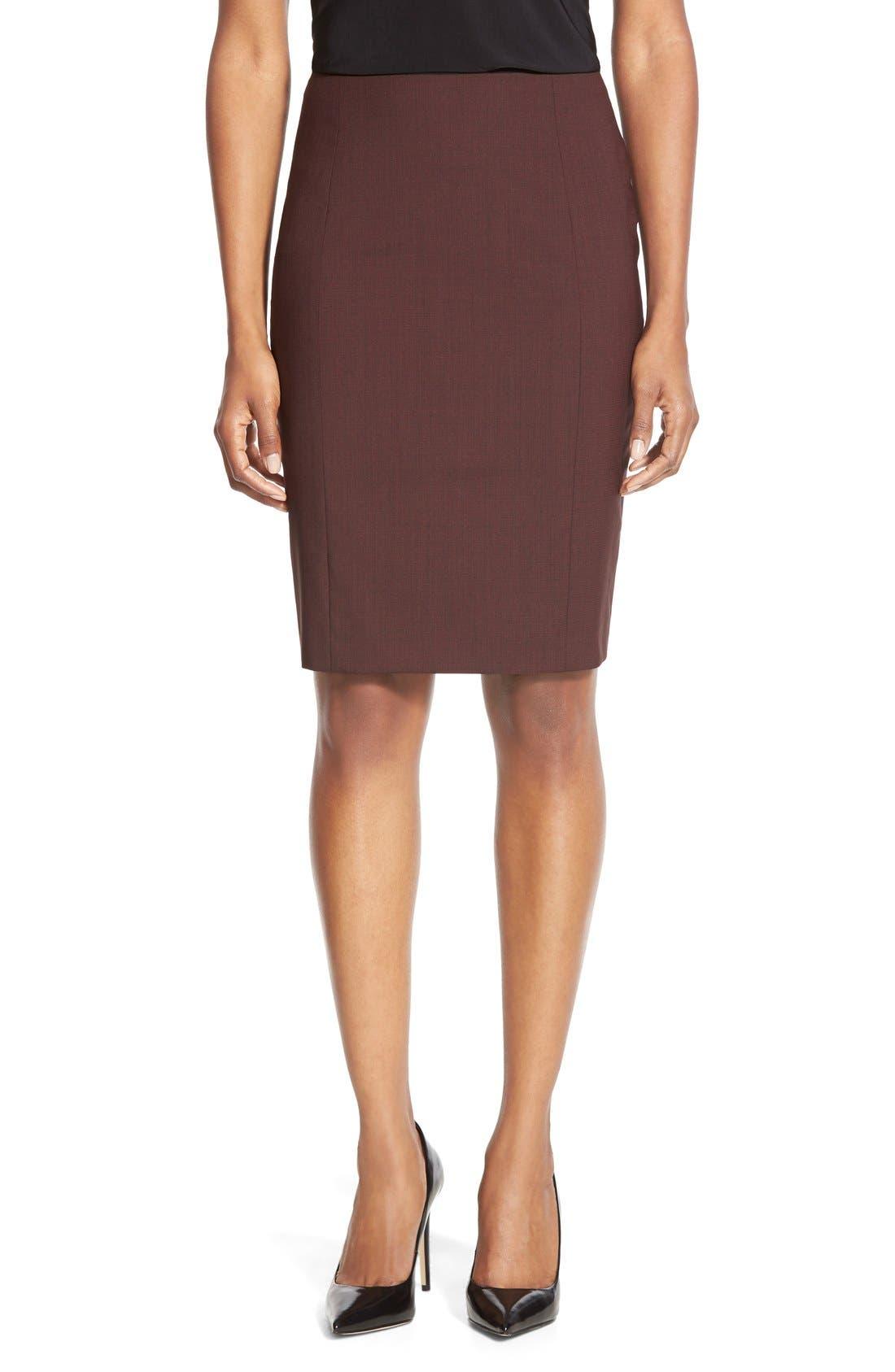 Alternate Image 1 Selected - BOSS 'Vabina' Wool Pencil Skirt