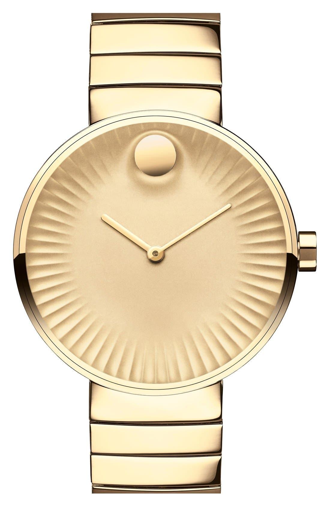 Alternate Image 1 Selected - Movado 'Edge' Bracelet Watch, 34mm