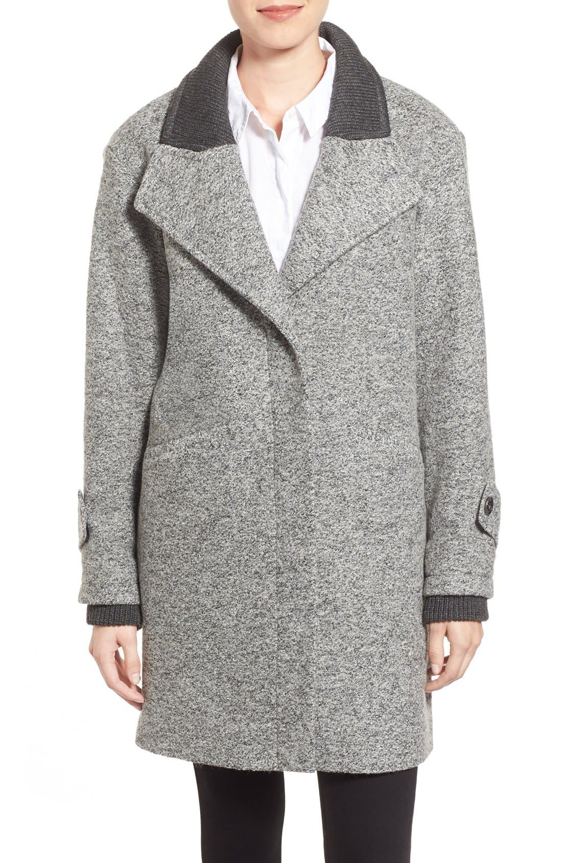 Main Image - French Connection Tweed Boyfriend Coat