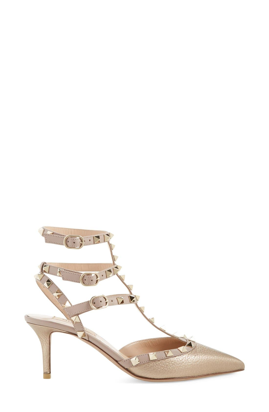 Alternate Image 4  - Valentino 'Rockstud' T-Strap Pump (Women)