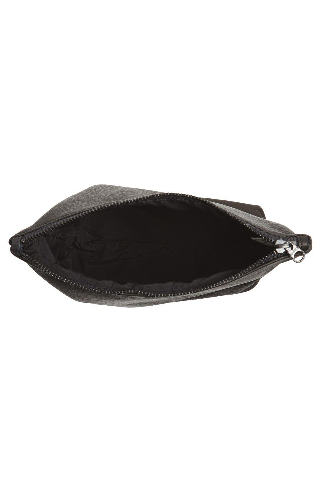 Alternate Image 4  - Baggu® Medium Leather Zip Pouch
