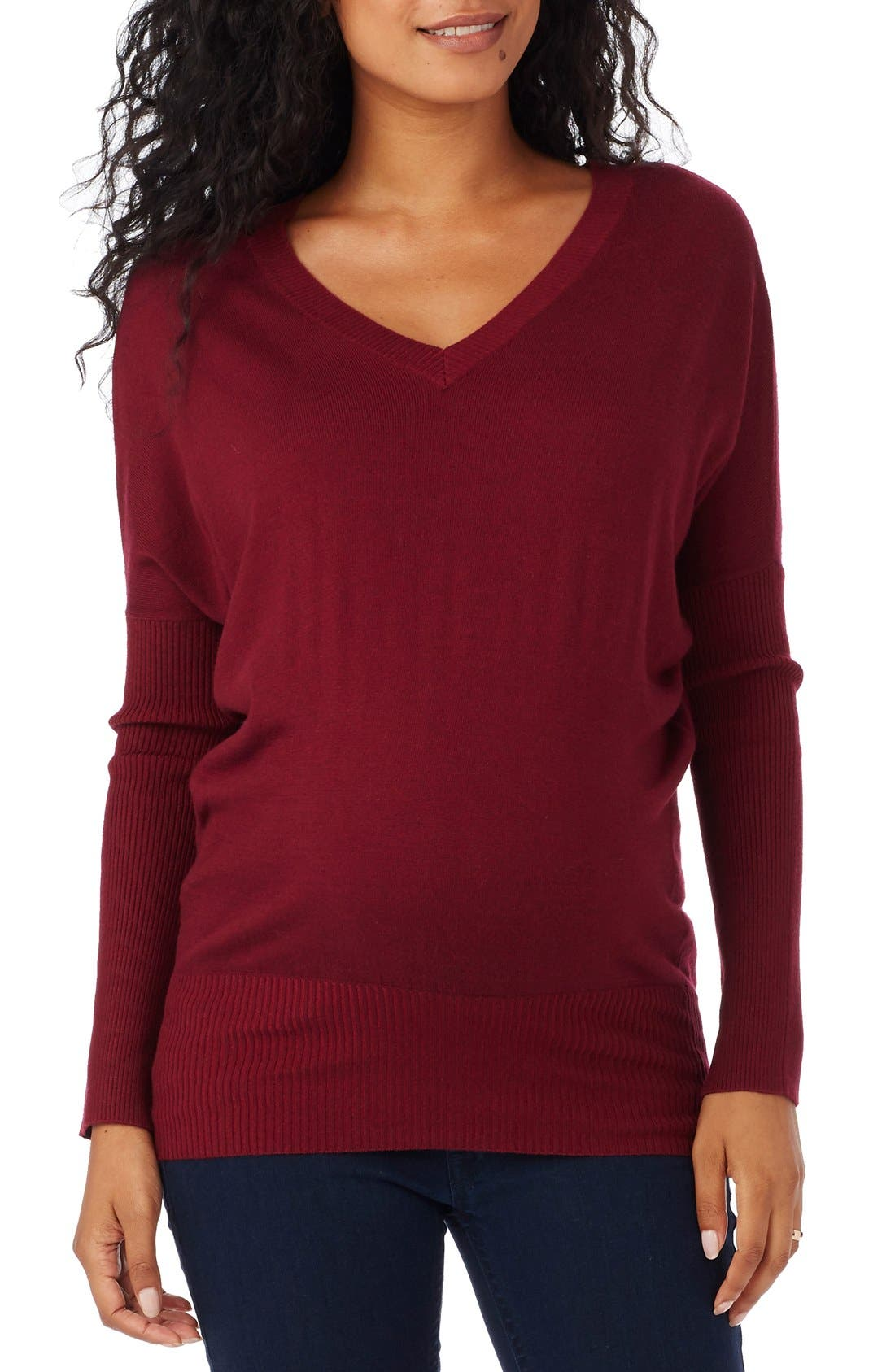 ROSIE POPE V-Neck Maternity Sweater