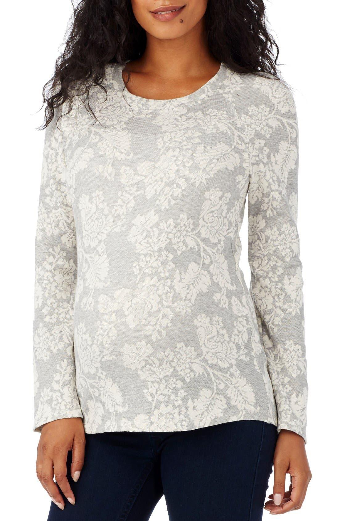 Alternate Image 1 Selected - Rosie Pope 'Emma' Print Maternity Sweater