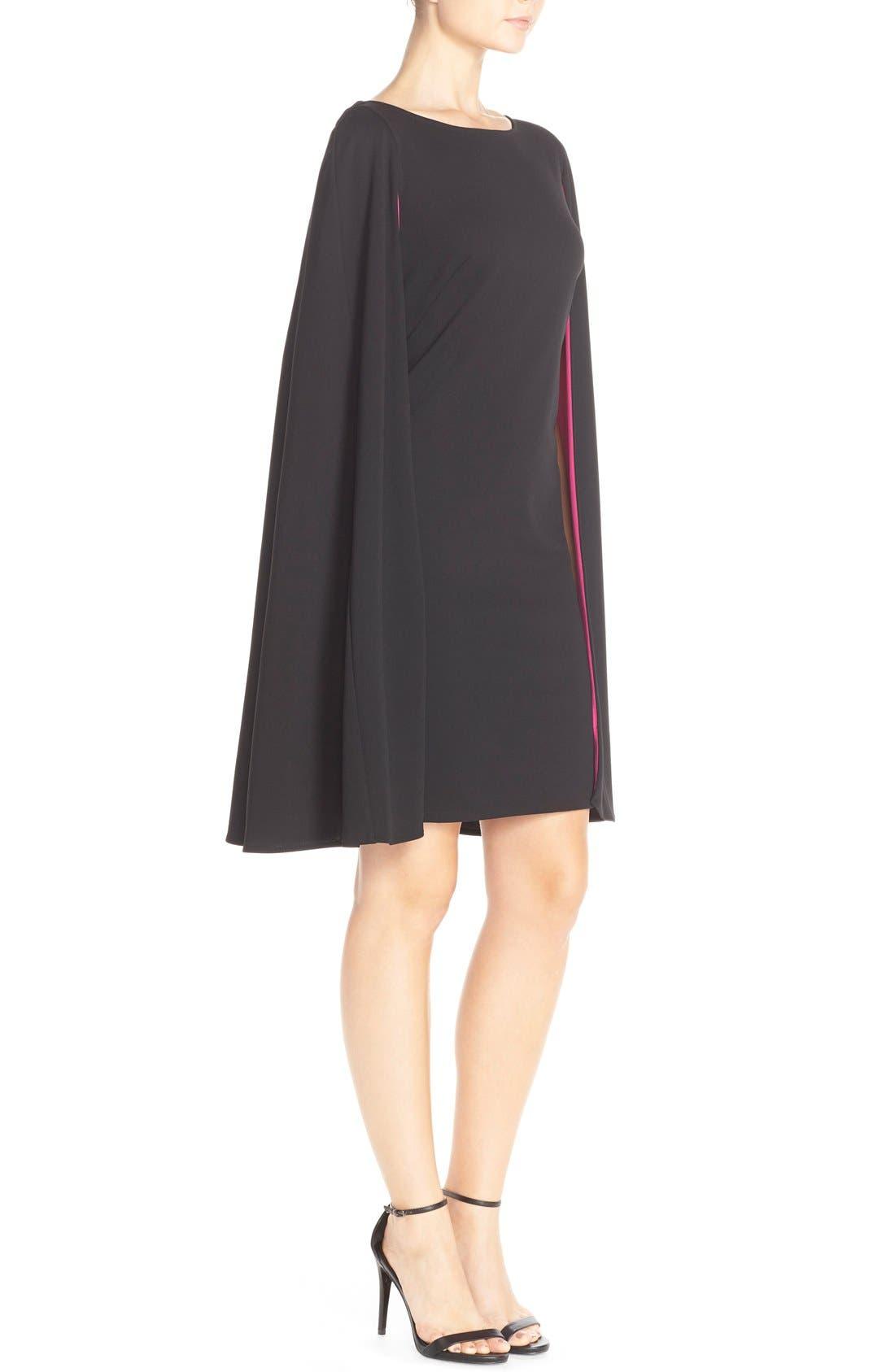 Alternate Image 3  - Adrianna Papell Cape Sheath Crepe Dress