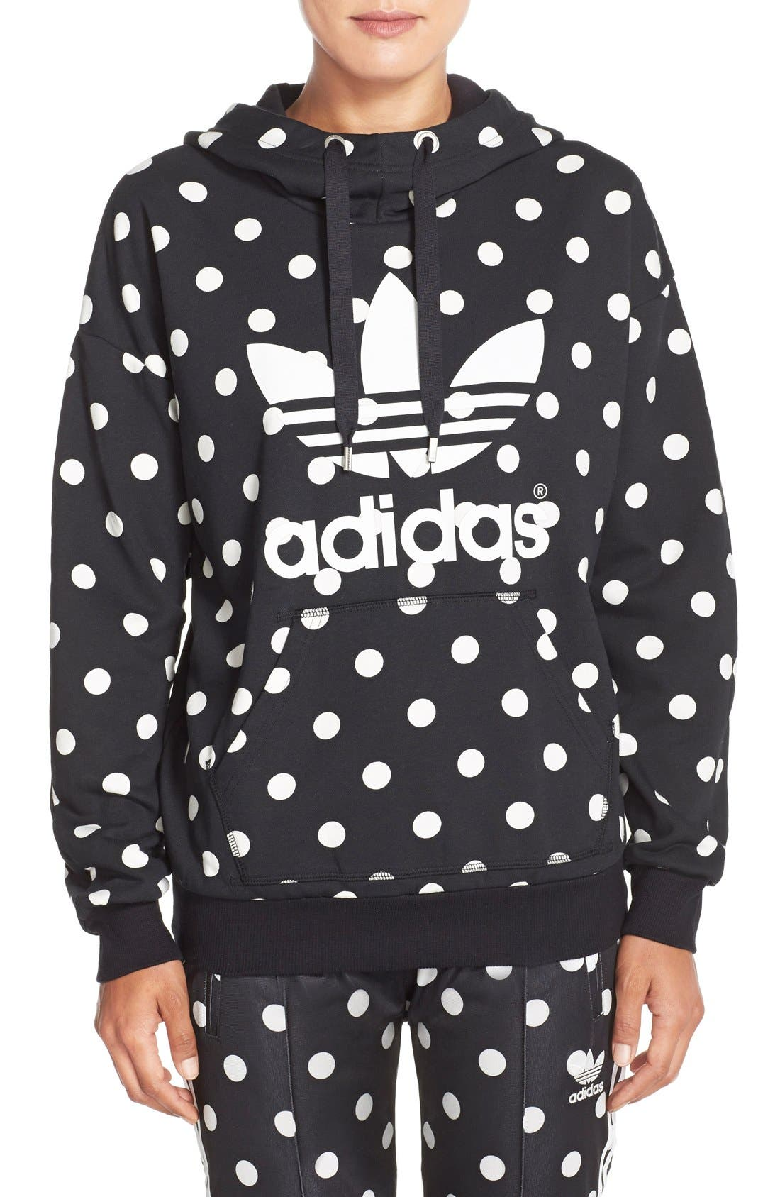 Main Image - adidas Originals 'Dots All Over' Print Hoodie