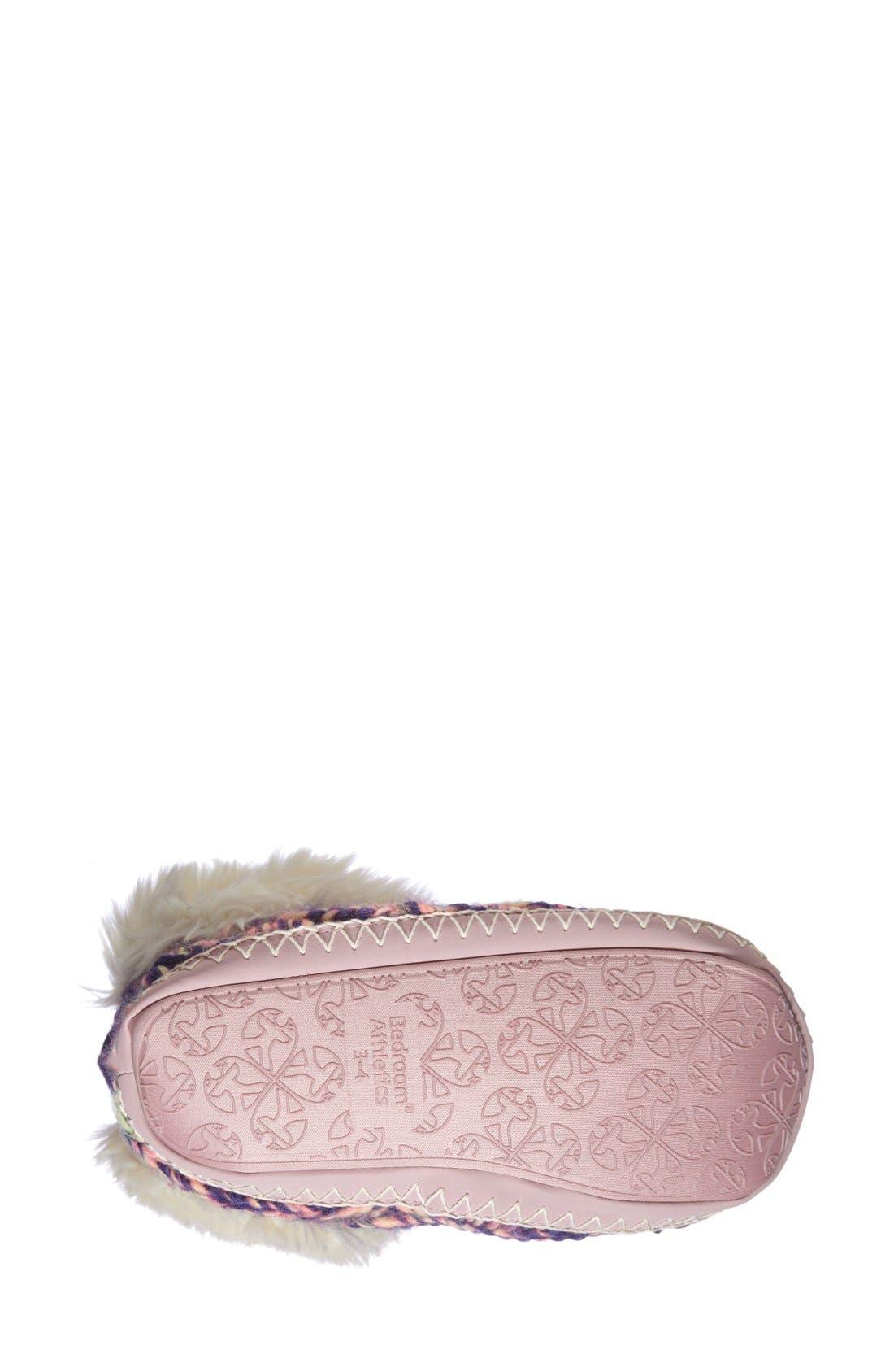 Alternate Image 4  - Bedroom Athletics 'Toni' Faux Fur Knit Slipper Bootie (Women)