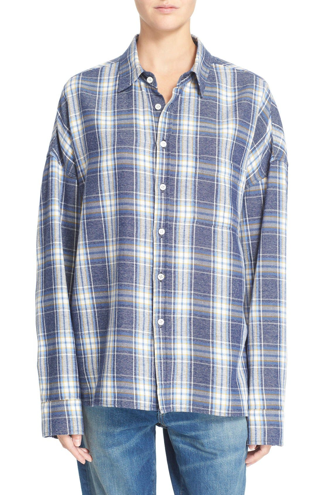 Main Image - 6397 'Lori' Cotton Flannel Shirt