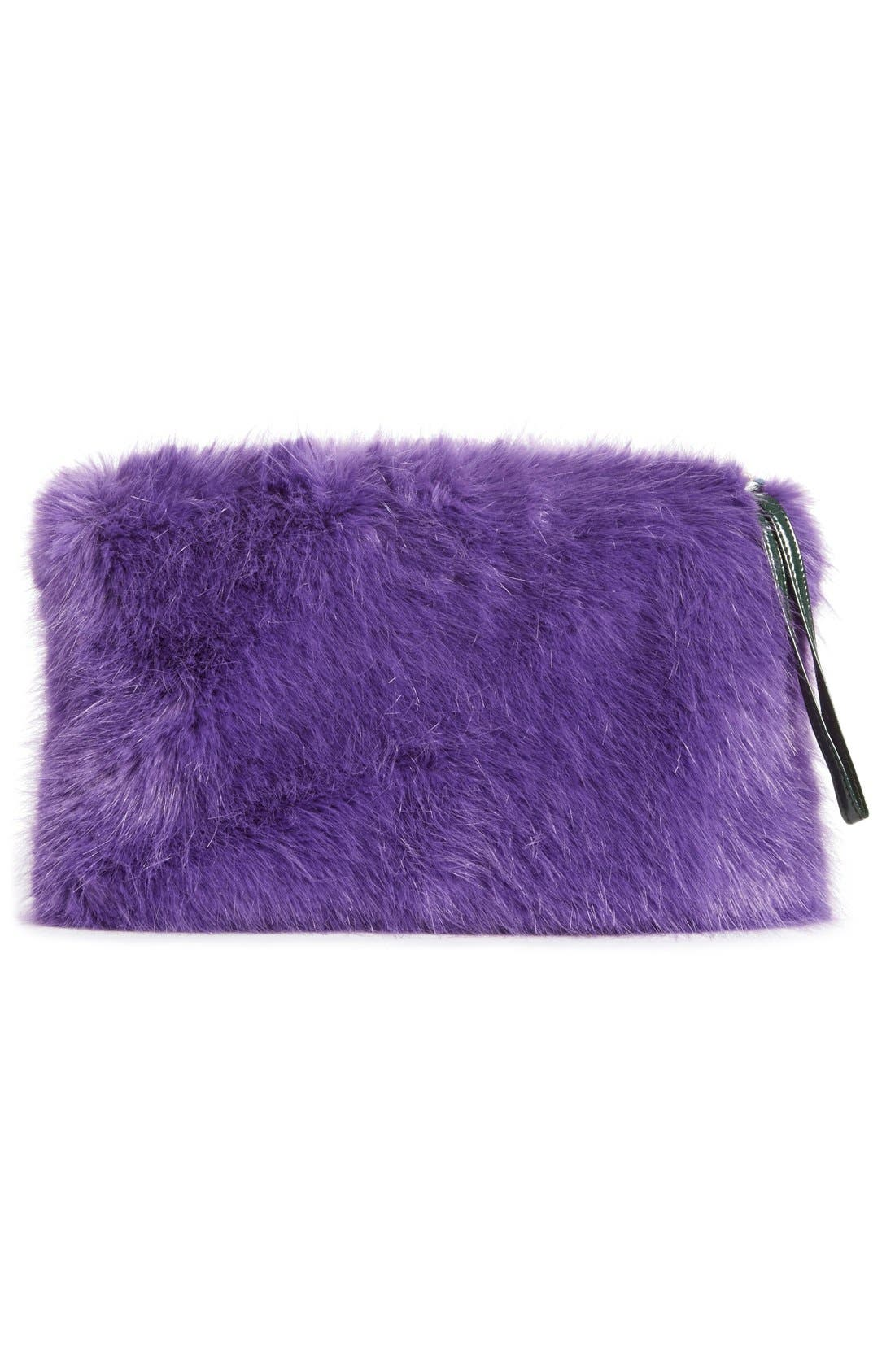 Alternate Image 2  - Shrimps 'Meadow' Faux Fur Clutch