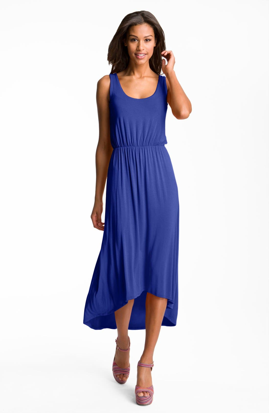 FELICITY & COCO High/Low Hem Jersey Tank Dress