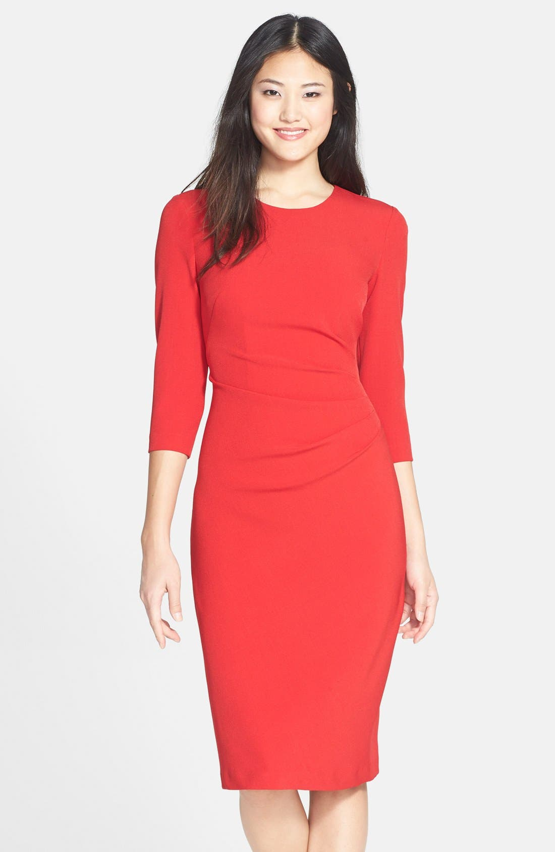 Alternate Image 1 Selected - Maggy London Gathered Crepe Sheath Dress