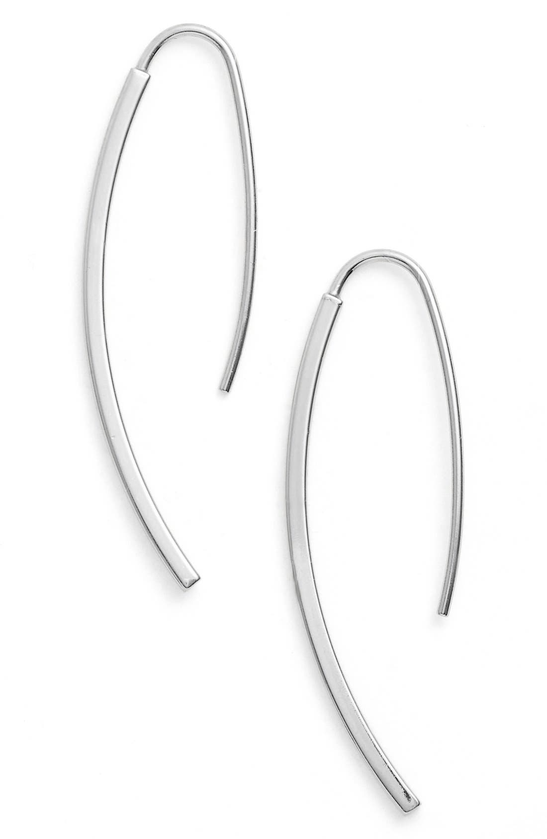 ARGENTO VIVO Curved Drop Earrings