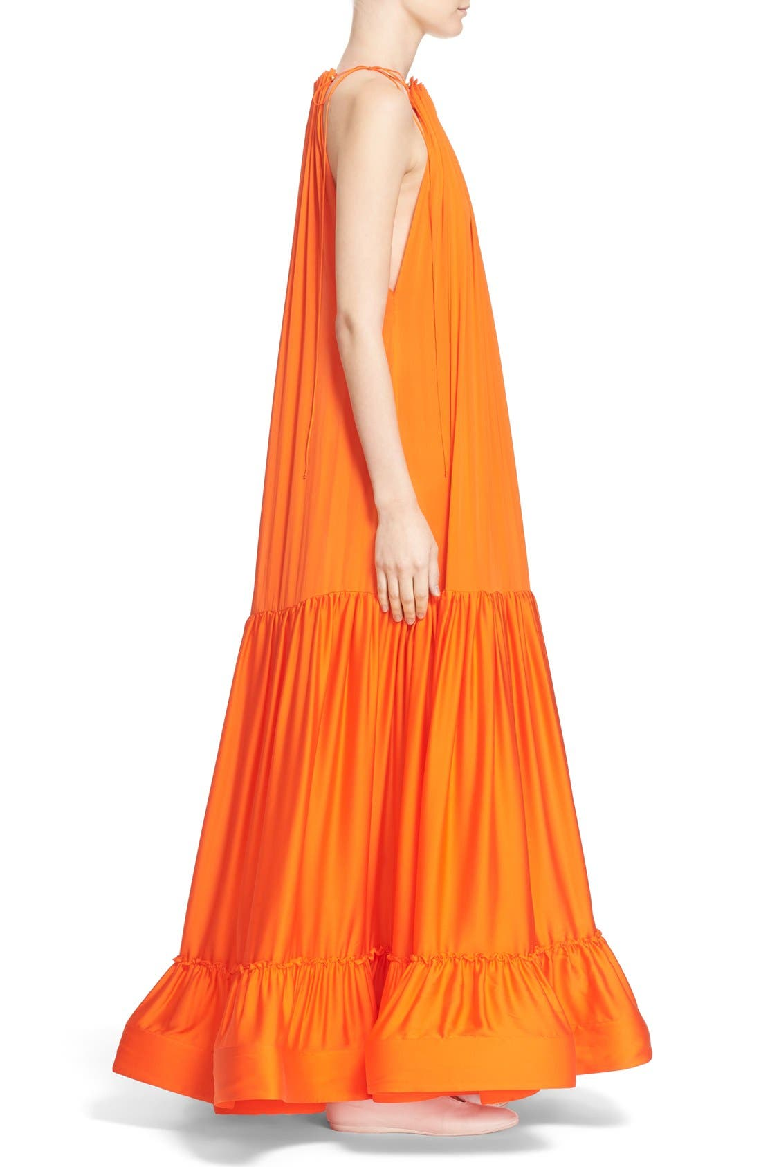 Alternate Image 5  - Stella McCartney High Neck Silk Parachute Gown