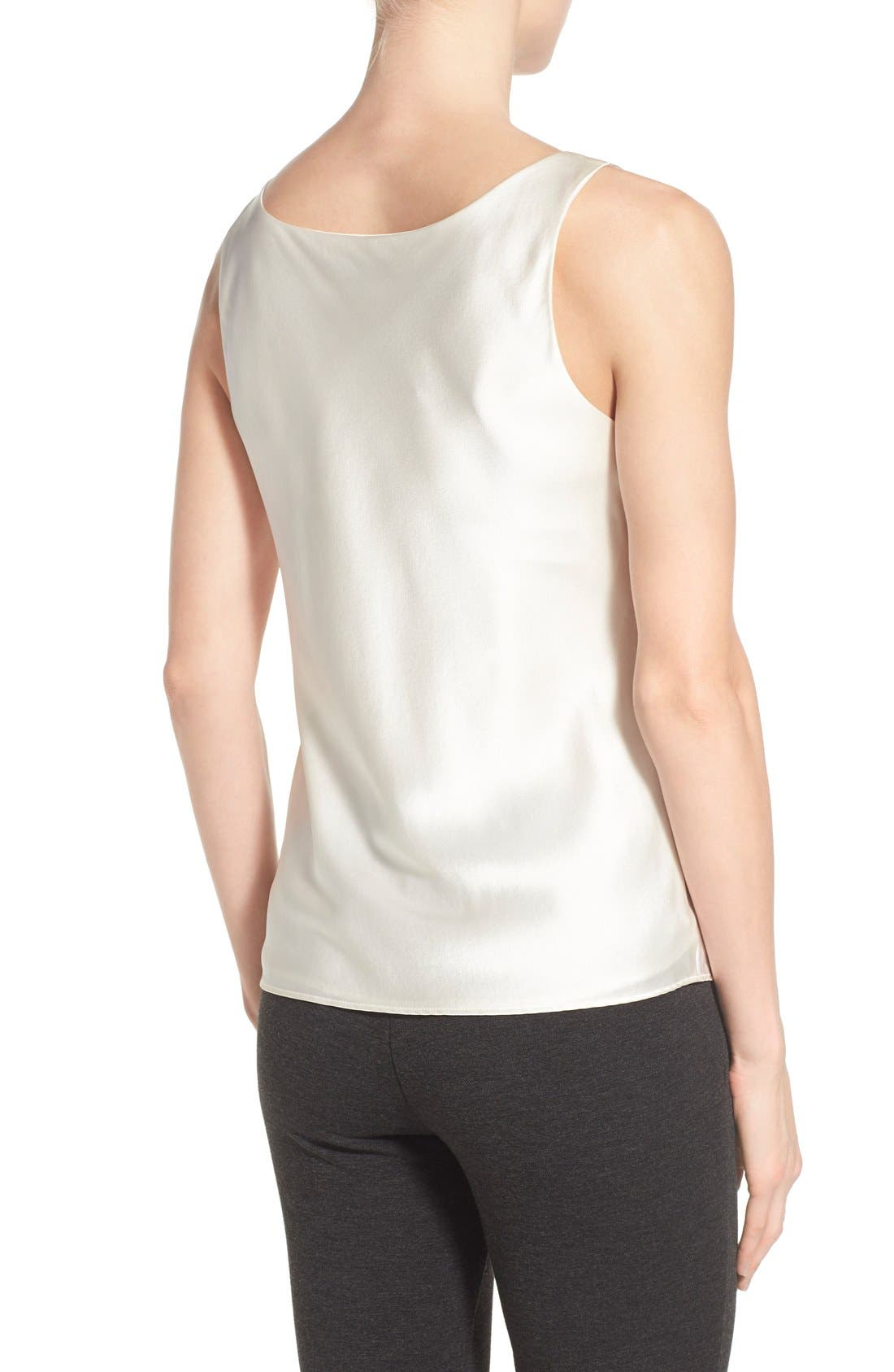 Alternate Image 2  - Lafayette 148 New York Silk Charmeuse Tank (Regular & Petite)