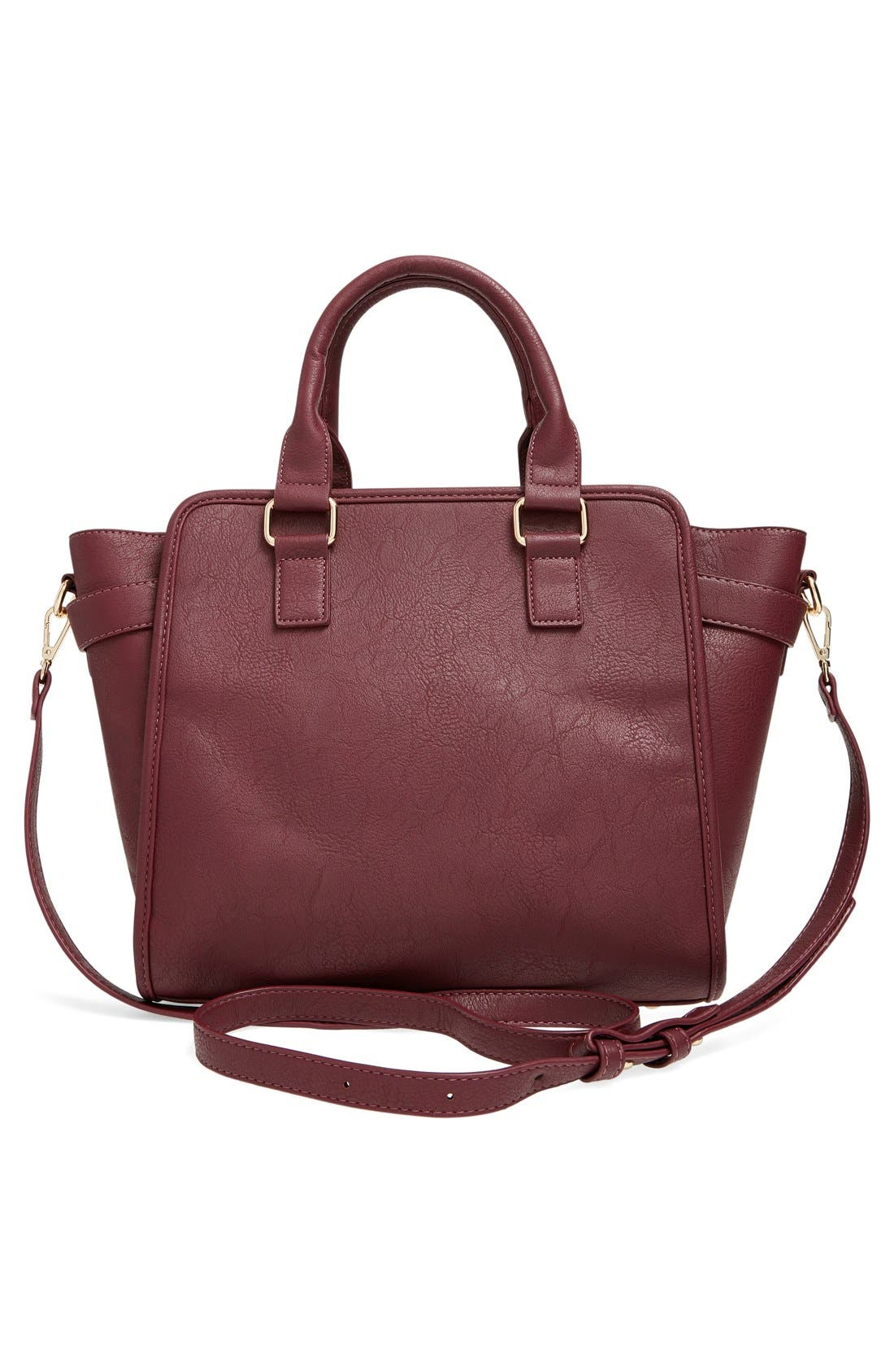 Alternate Image 3  - Cesca Faux Leather Crossbody Lock Satchel