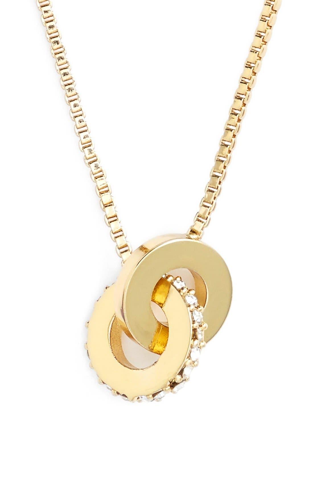 Alternate Image 1 Selected - kate spade new york 'infinity' mini pendant necklace