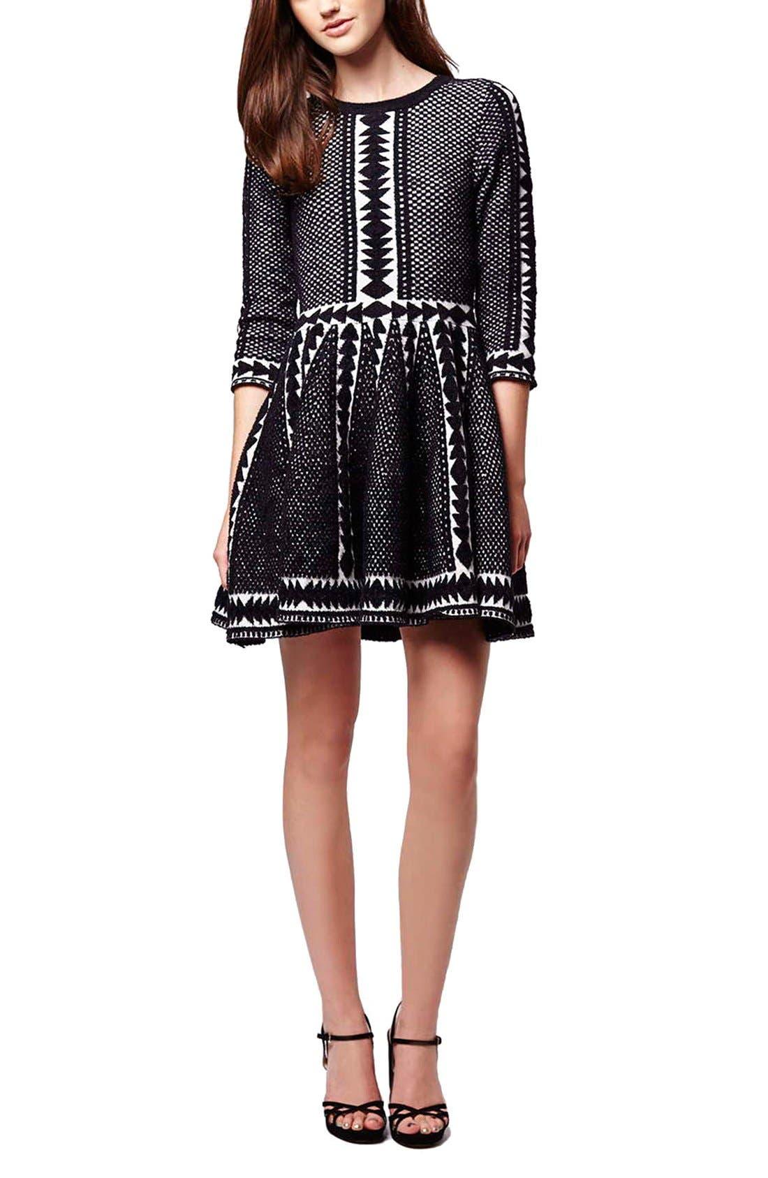 Alternate Image 2  - Topshop 'Premium' Fit & Flare Sweater Dress