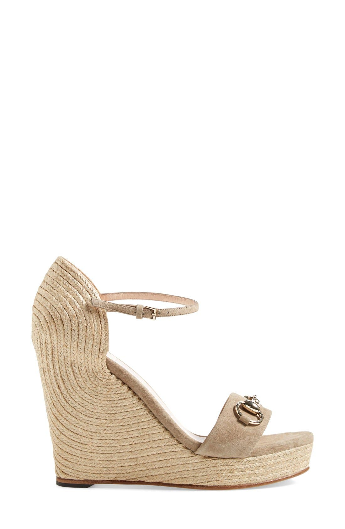 Alternate Image 4  - Gucci Carolina Ankle Strap Wedge (Women)
