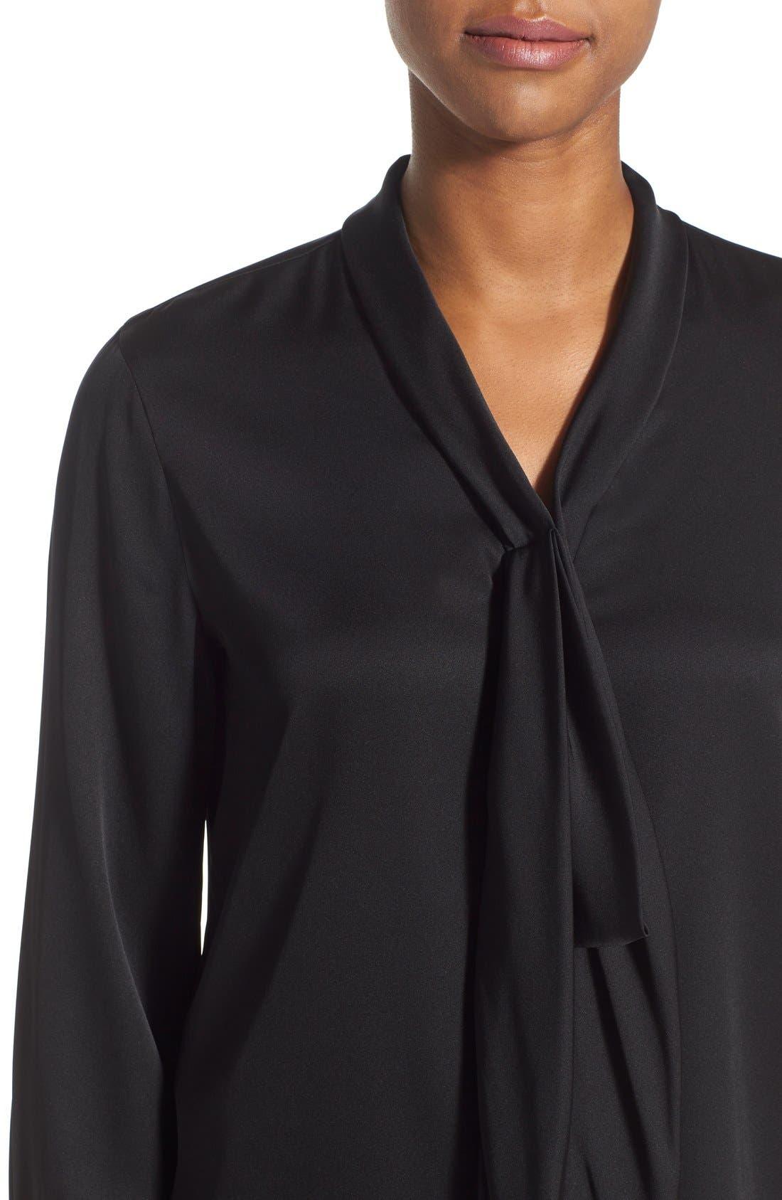 Alternate Image 4  - Kobi Halperin Tie Neck Stretch Silk Blouse