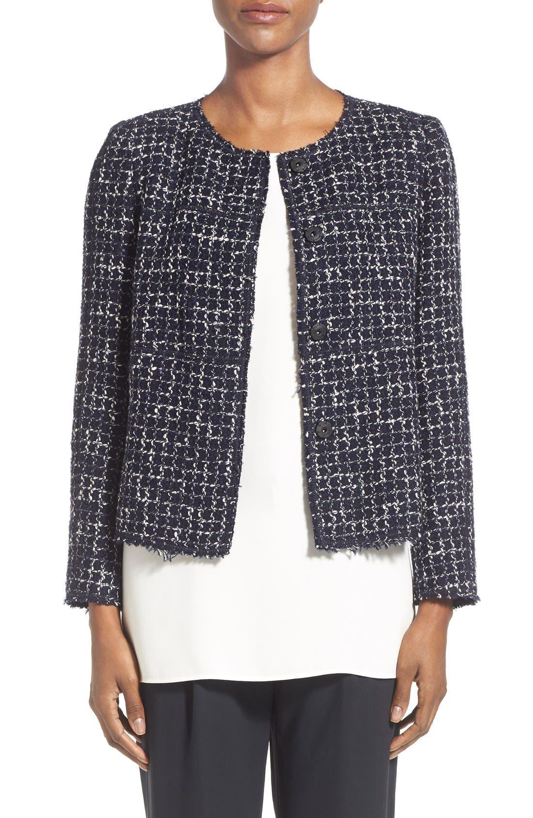 Alternate Image 1 Selected - Lafayette 148 New York 'Dani - Tempered Tweed' Jacket (Regular & Petite)