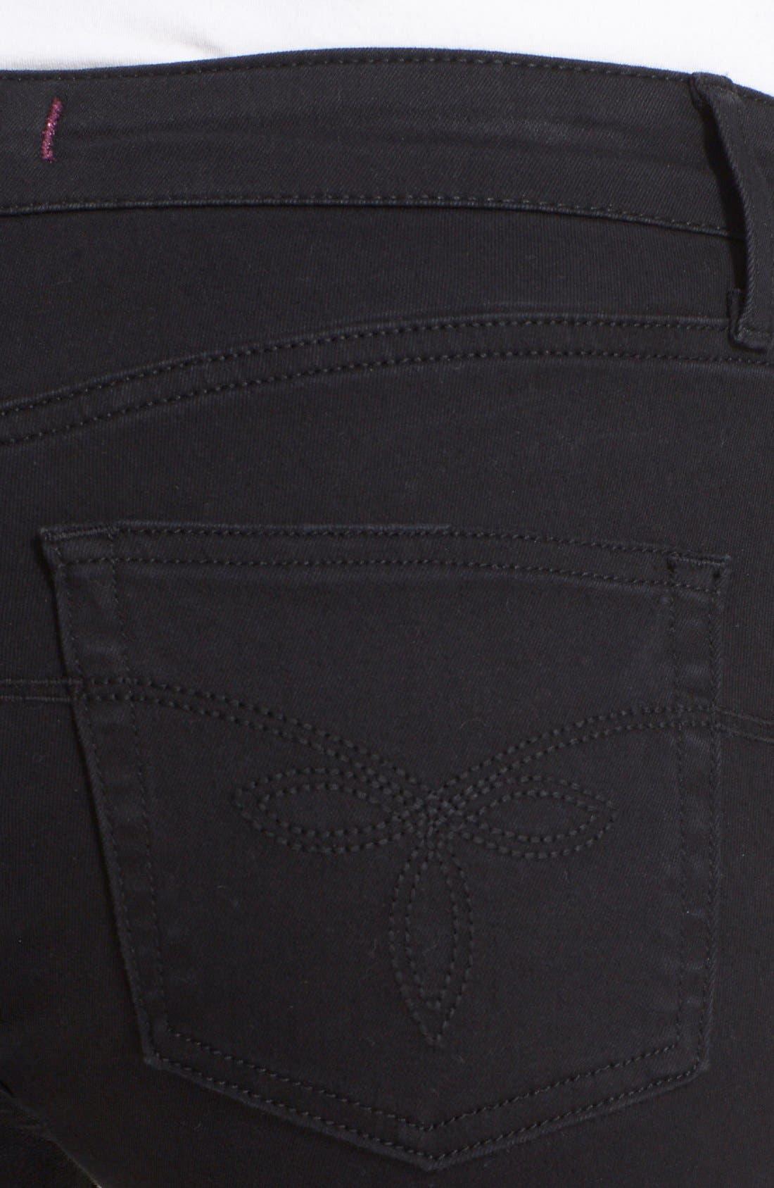Alternate Image 4  - Ted Baker London 'Platt' Abrasion Skinny Jeans (Black)