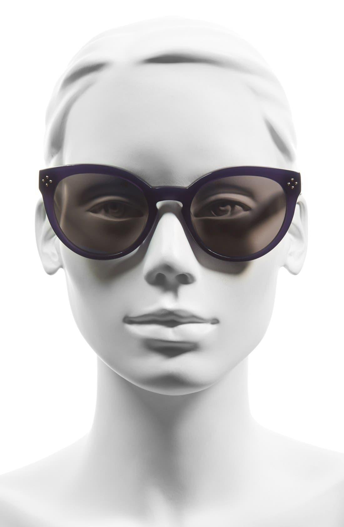 Alternate Image 2  - Chloé 'Boxwood' 54mm Round Sunglasses
