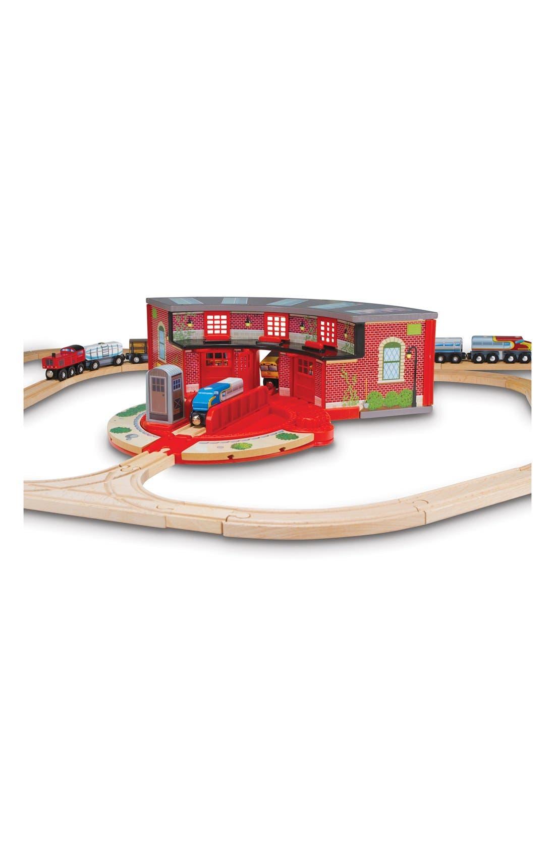 MELISSA & DOUG 'Roundhouse & Turntable' Wooden Toy