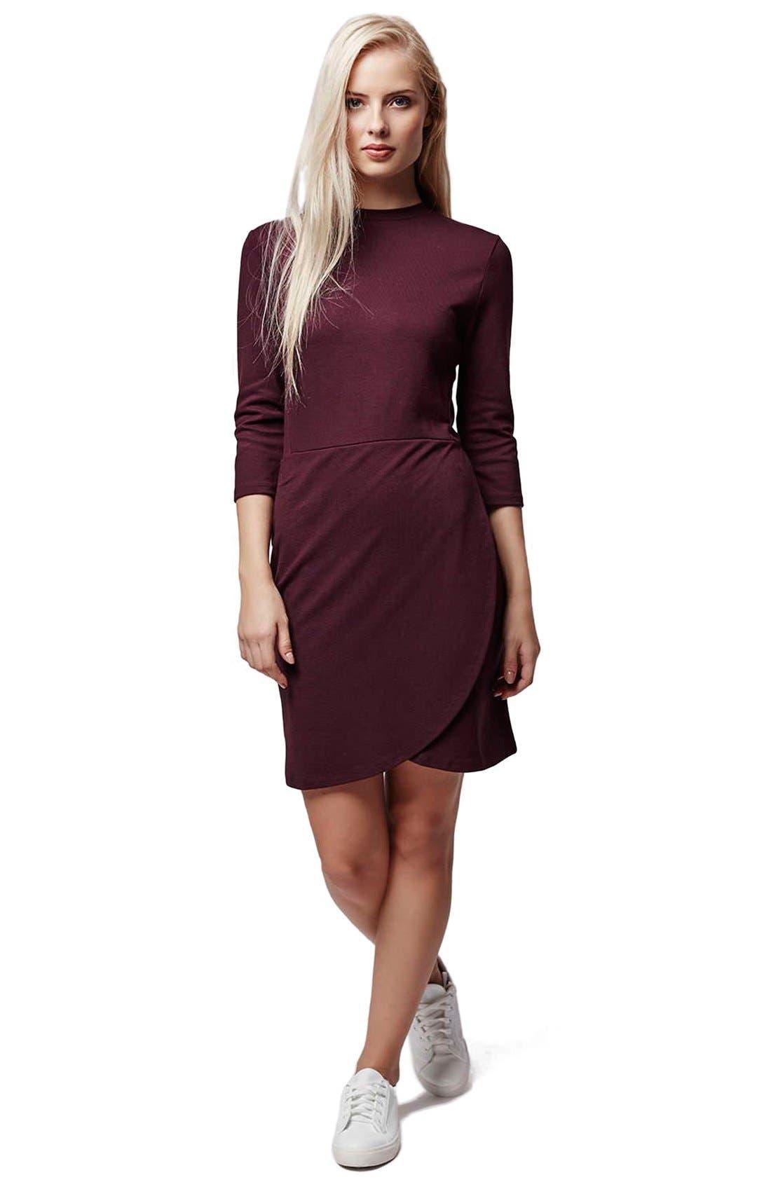 Alternate Image 2  - TopshopFauxWrap Body-Con Dress