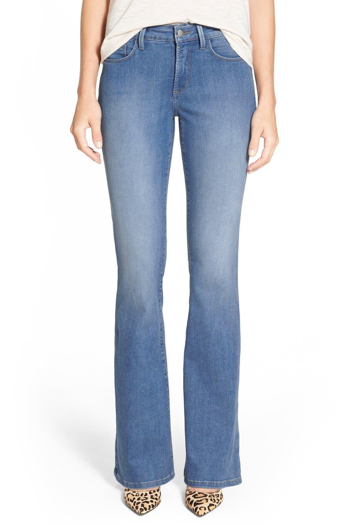 Alternate Image 1 Selected - NYDJ 'Farrah' Stretch Flare Leg Jeans (Upper Falls)