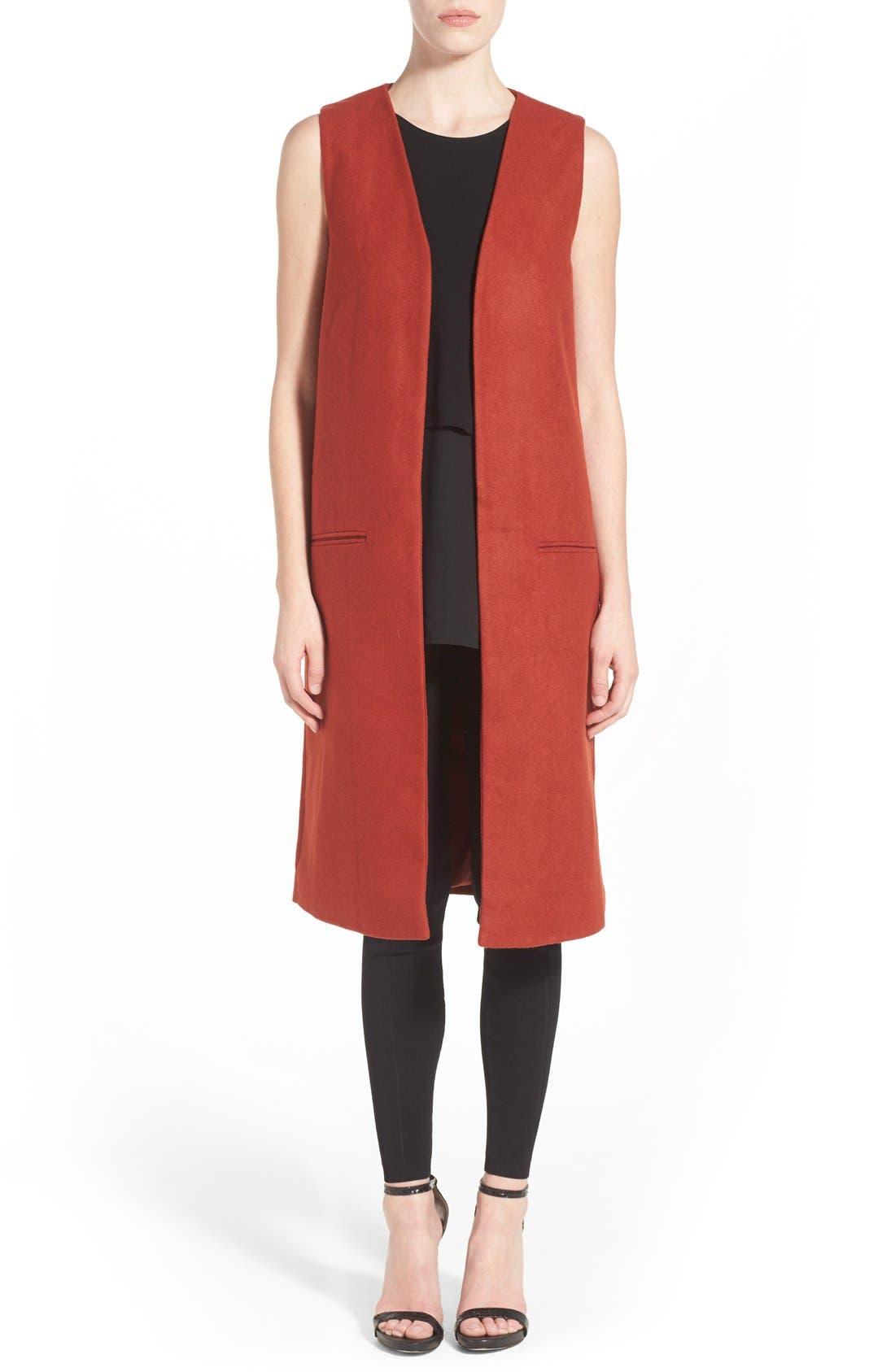 Alternate Image 1 Selected - Missguided Sleeveless Long Blazer